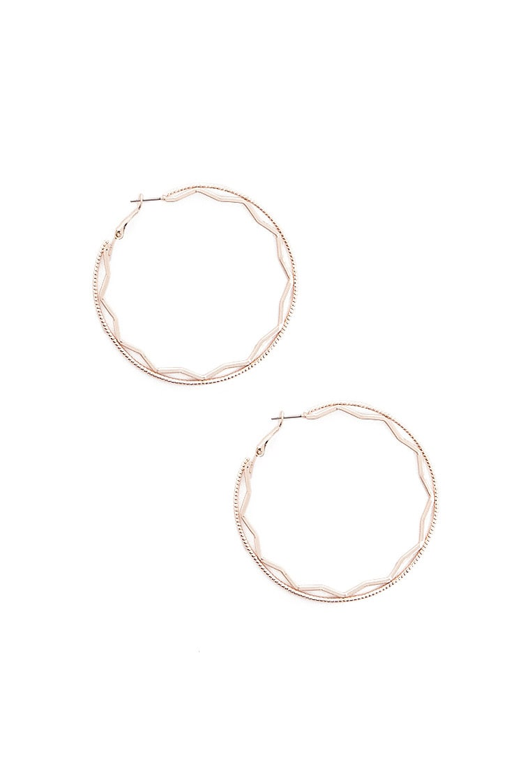 F21 Layered Hoop Earrings