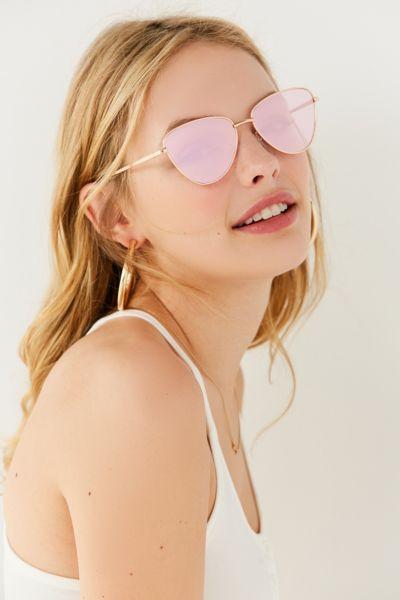 Le Specs Echo Geometric Sunglasses