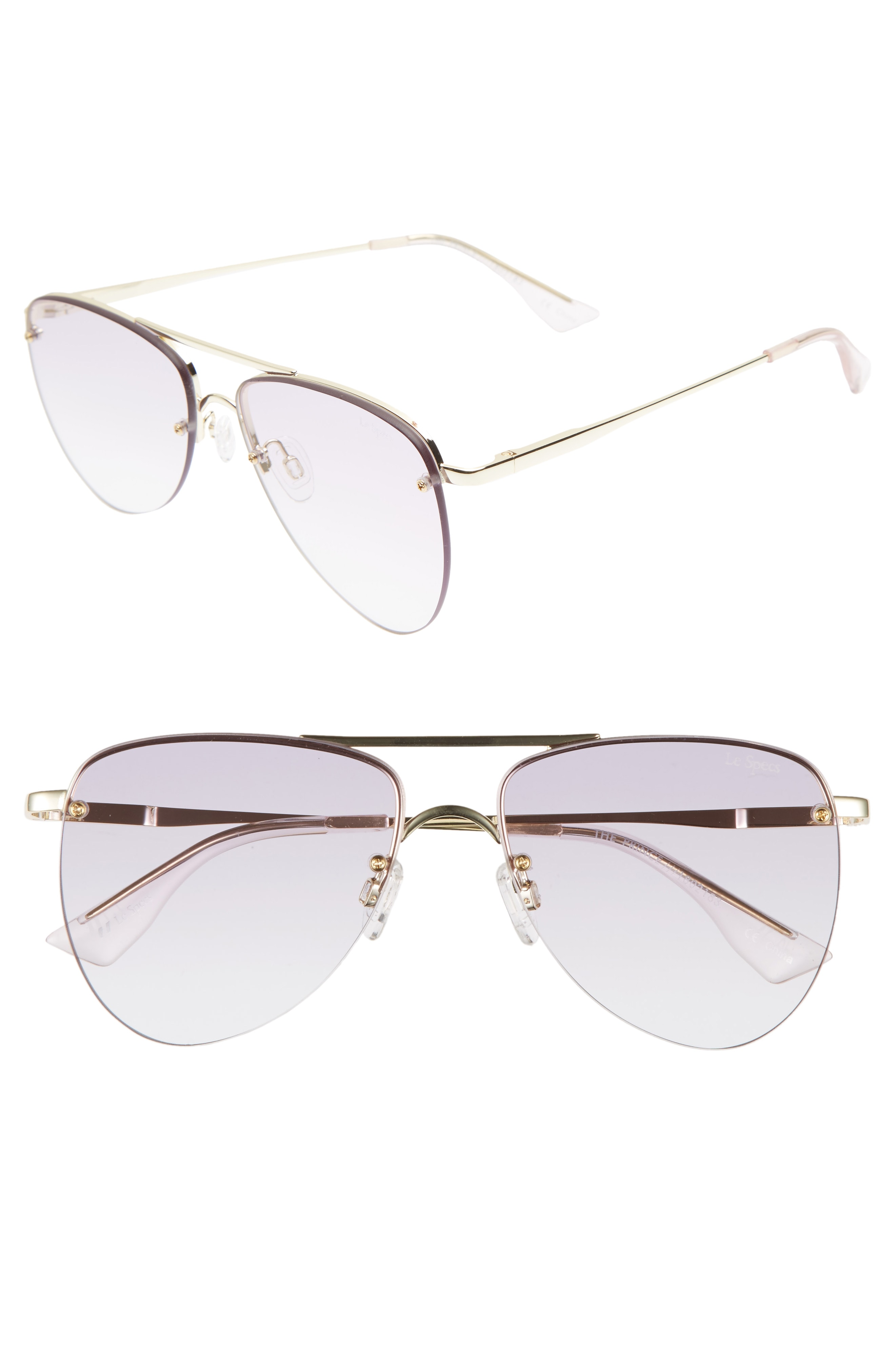 Le Specs The Prince 57mm Aviator Sunglasses