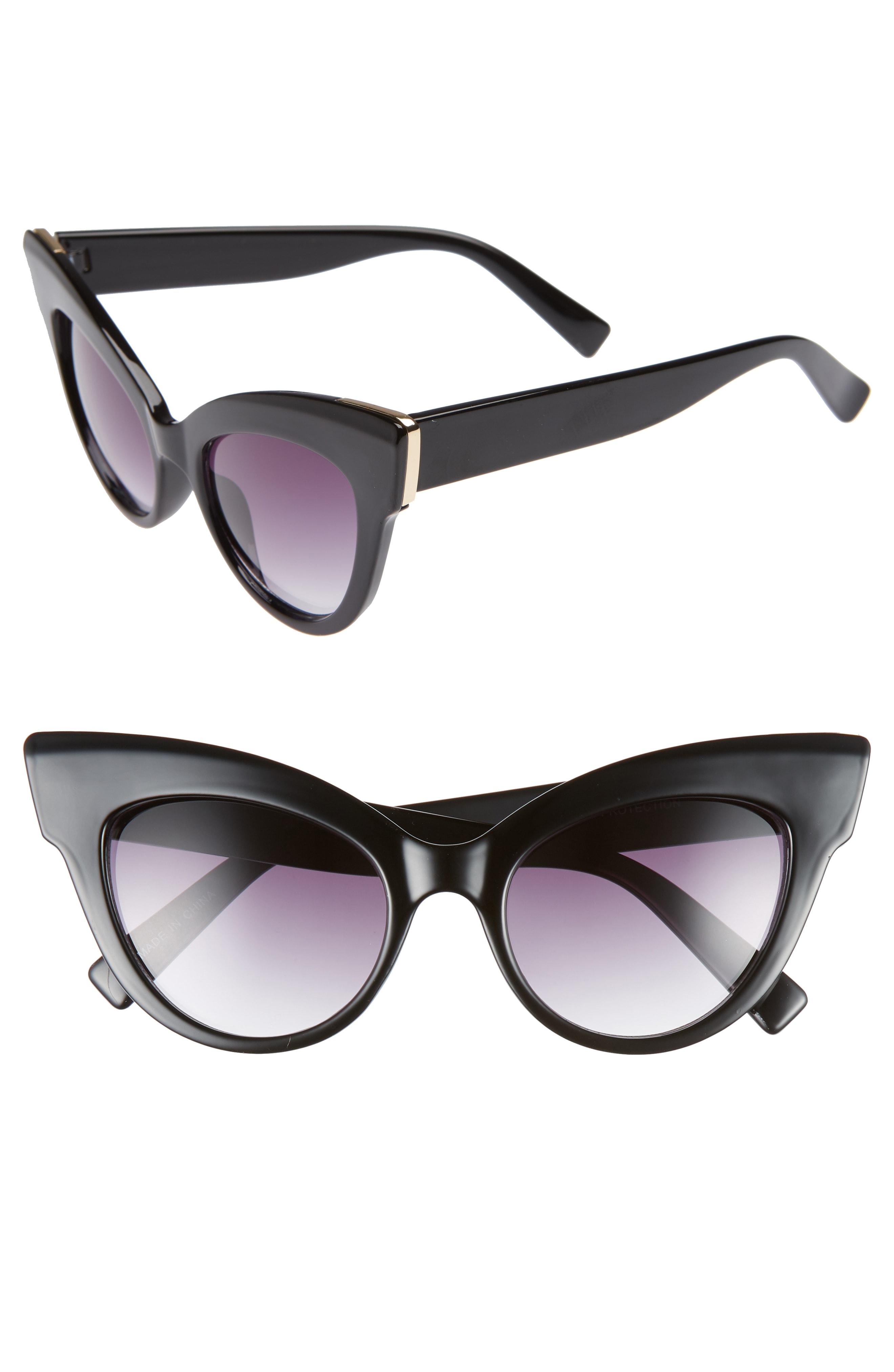 Leith 50mm Metal Trim Cat Eye Sunglasses