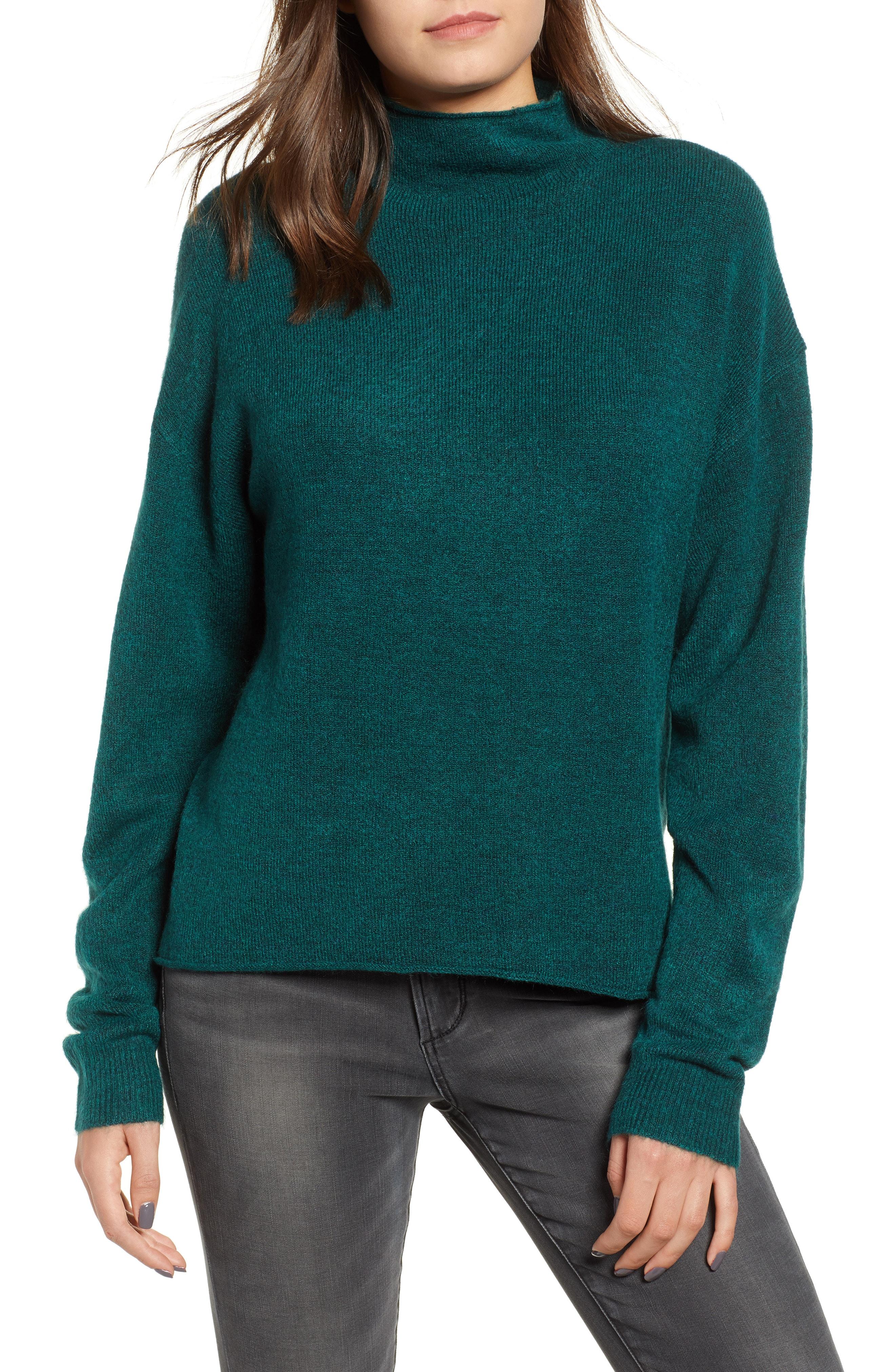 Leith Cozy Mock Neck Sweater (Regular & Plus Size)