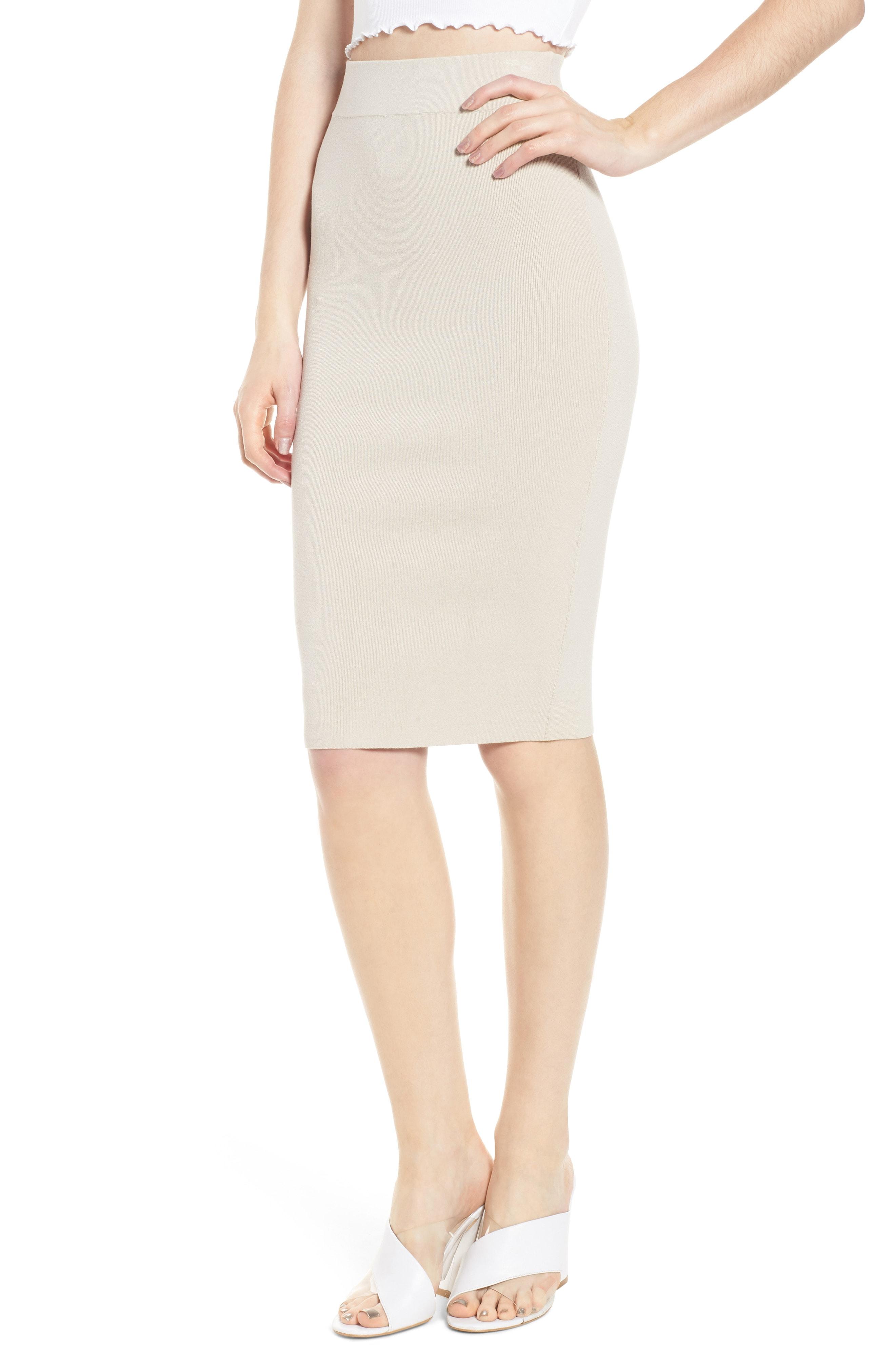 Leith High Waist Body-Con Skirt (Regular & Plus Size)
