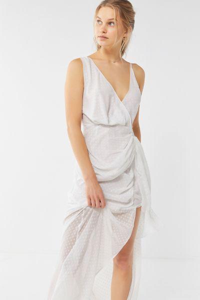 Lioness La Loca Ruched Surplice Maxi Dress