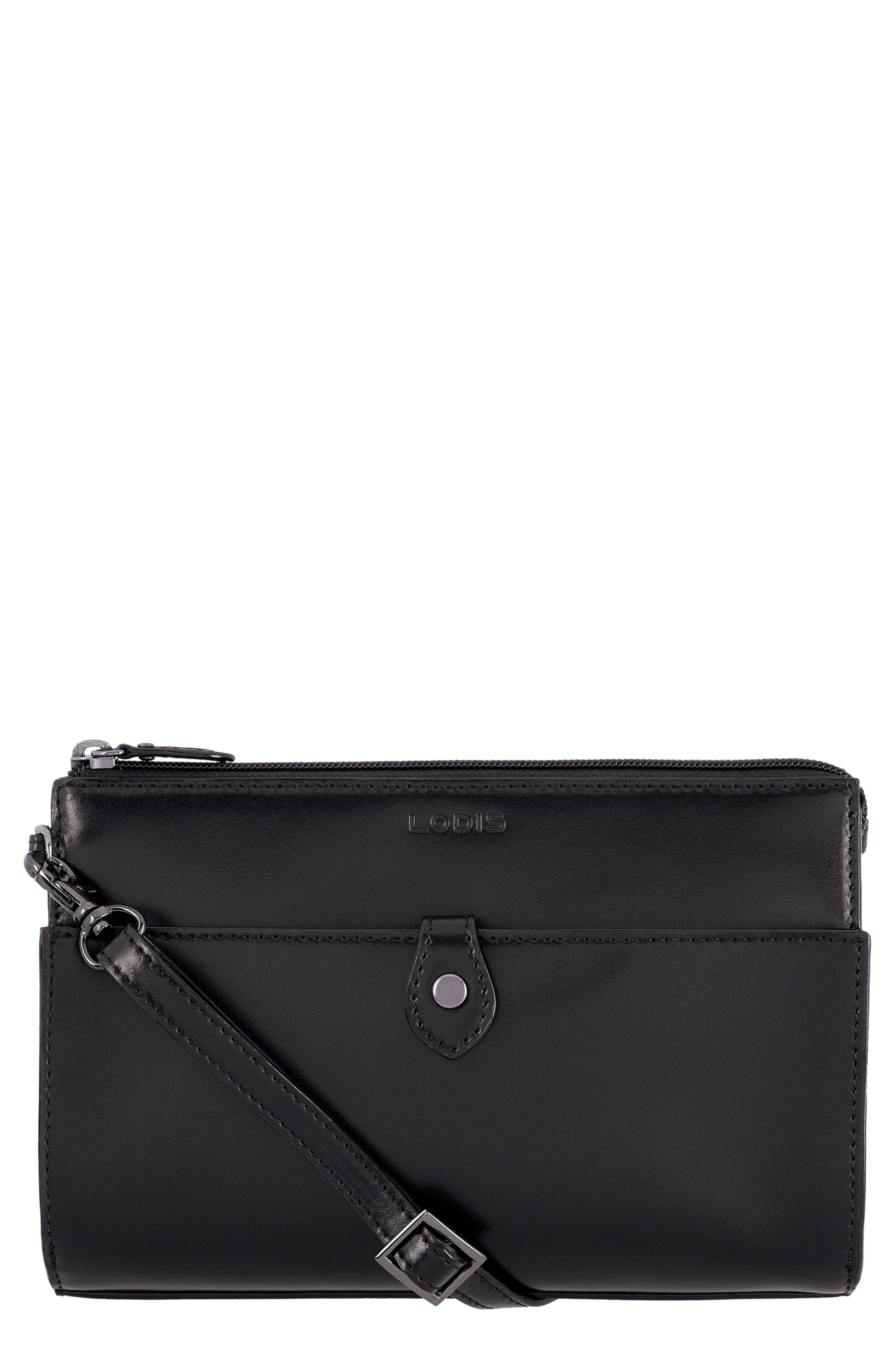 LODIS Los Angeles Audrey Under Lock & Key Vicky Convertible Leather Crossbody Bag