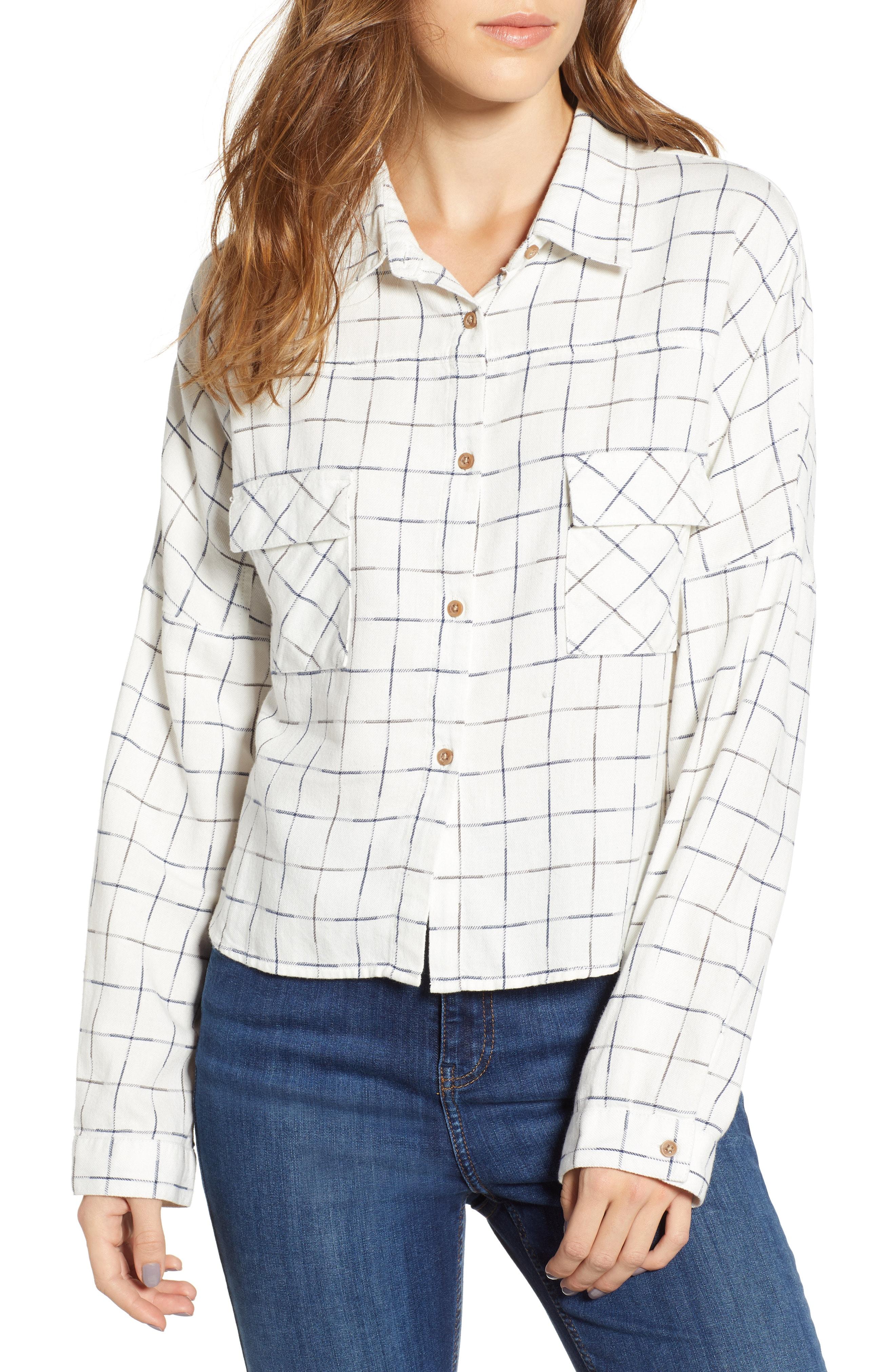 Love, Fire Check Flannel Shirt