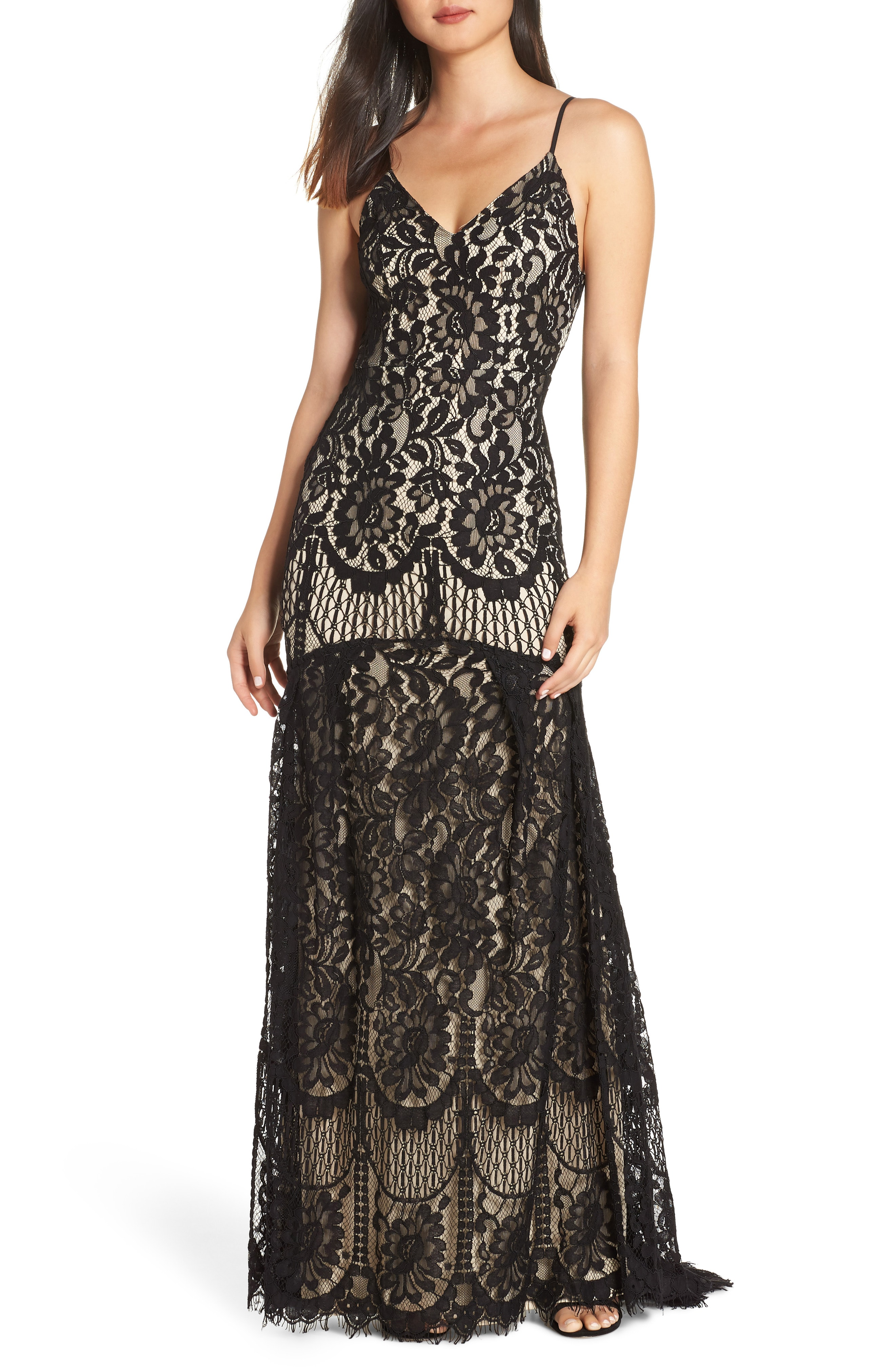 Lulus Flynn Lace Gown with Train