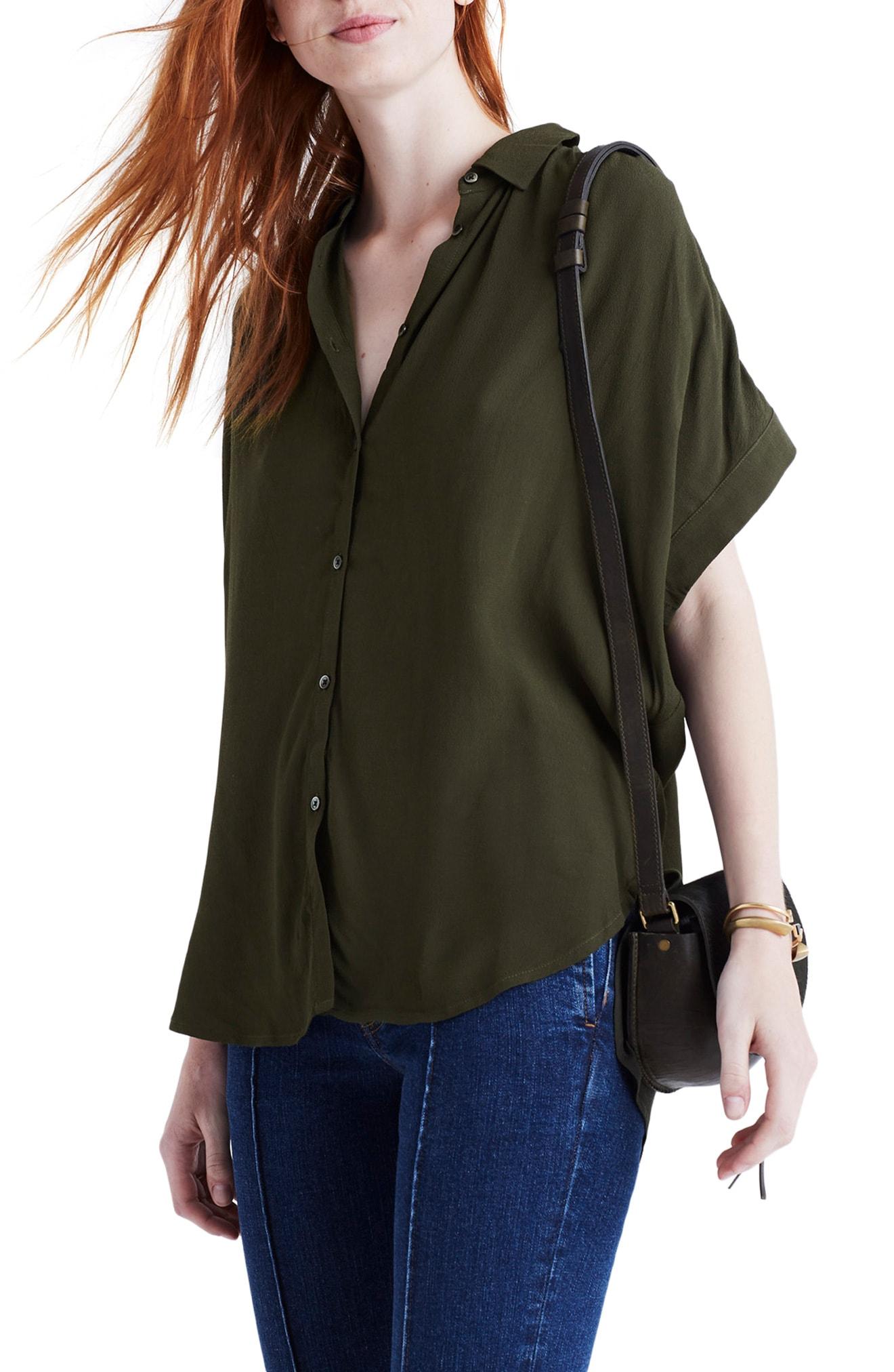 Madewell Central Drapey Shirt (Regular & Plus Size)