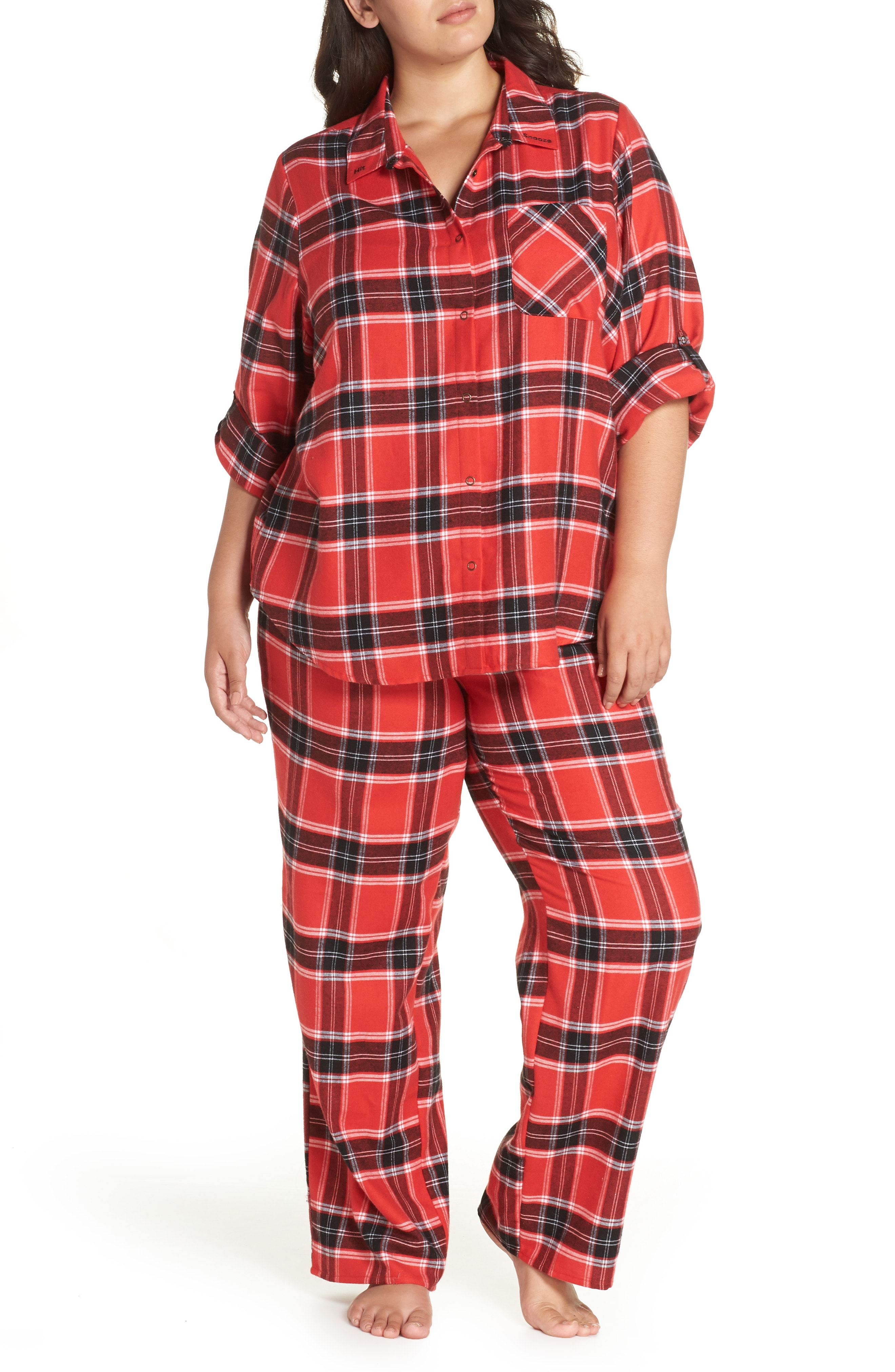 Make + Model Flannel Pajamas (Plus Size)