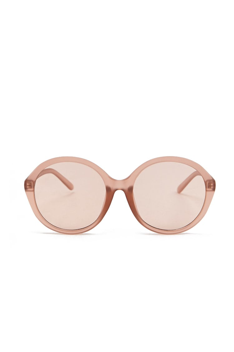 F21 Matte Plastic Round Sunglasses