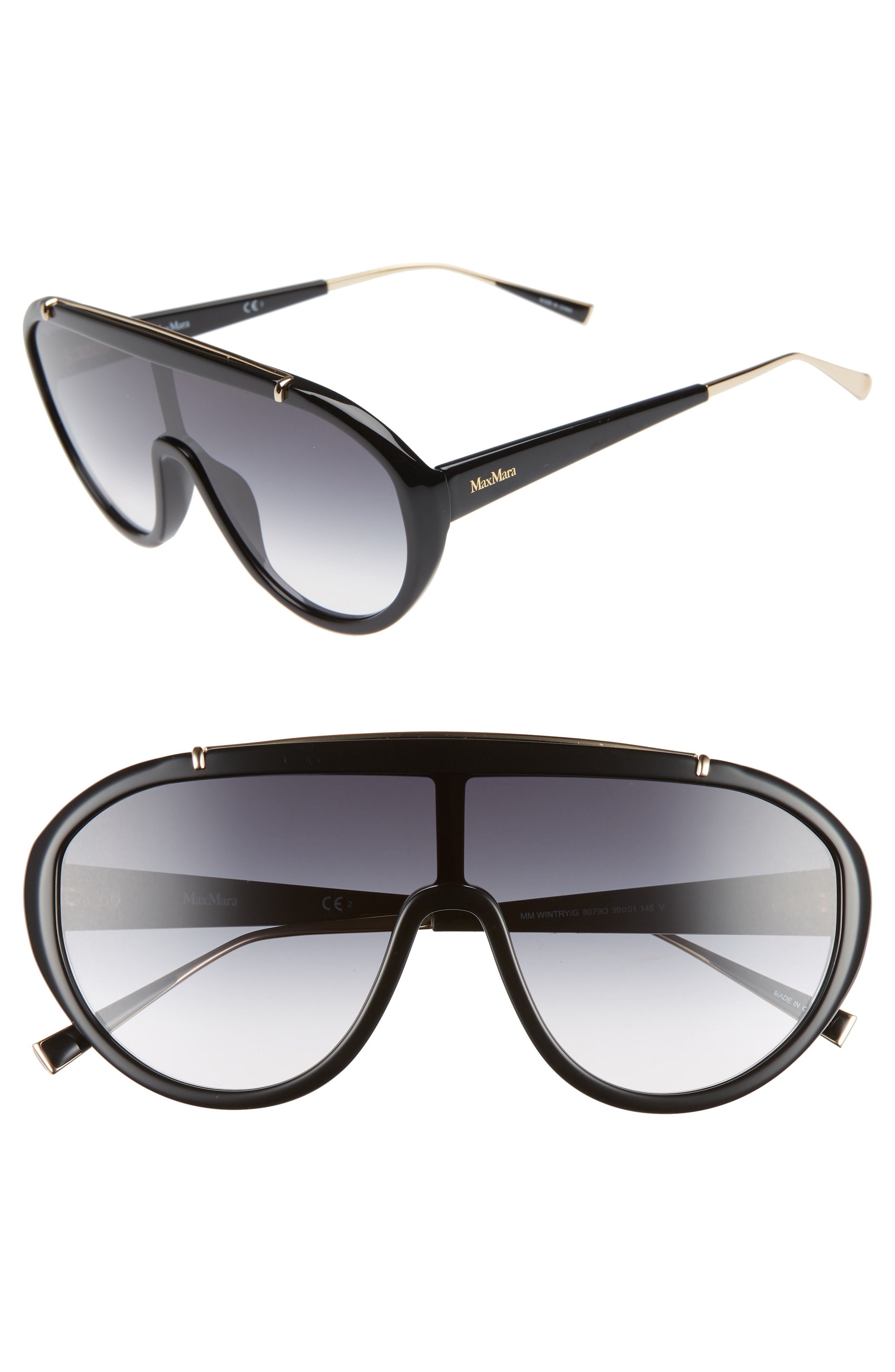 Max Mara Wintry 133mm Shield Sunglasses