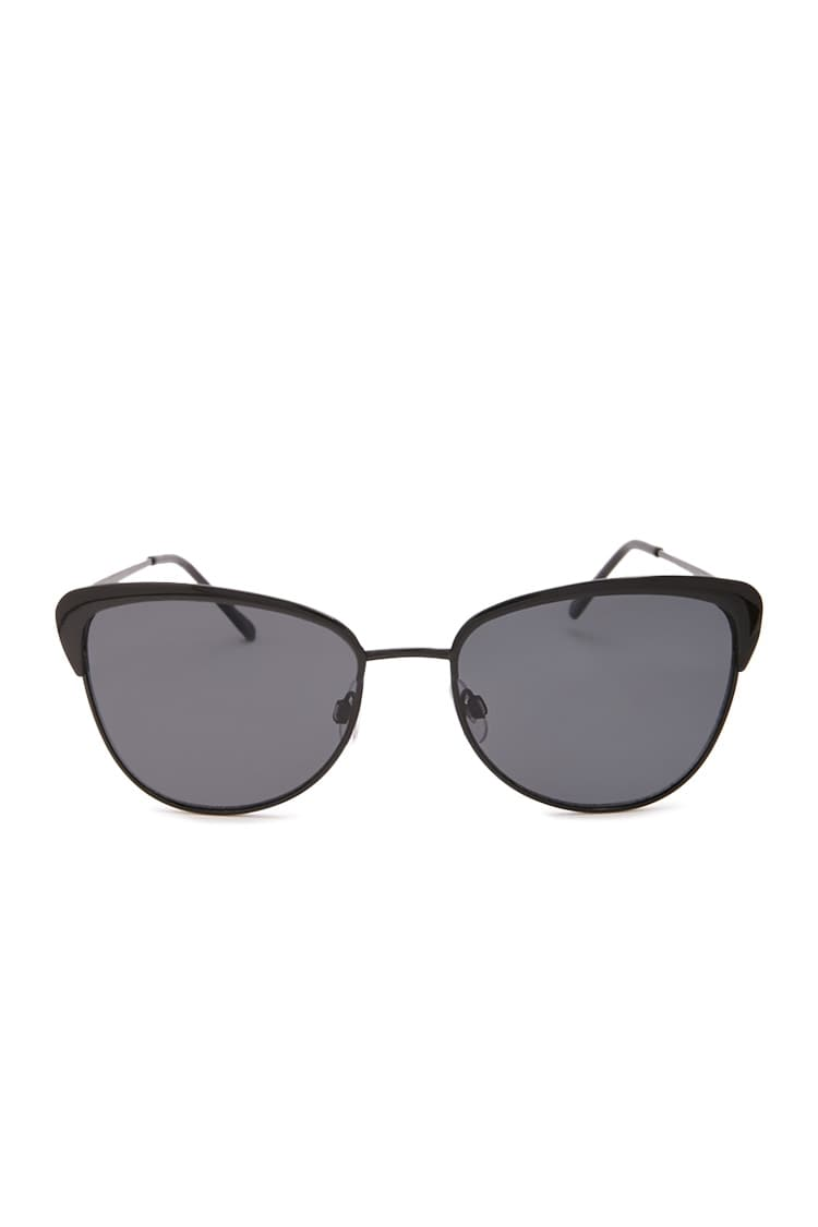 F21 Metal-Frame Cat-Eye Sunglasses