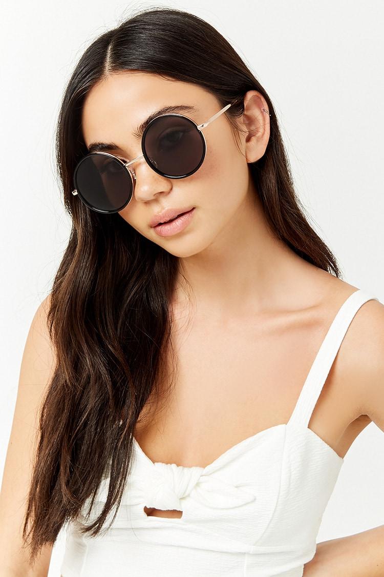 F21 Metallic Round Sunglasses