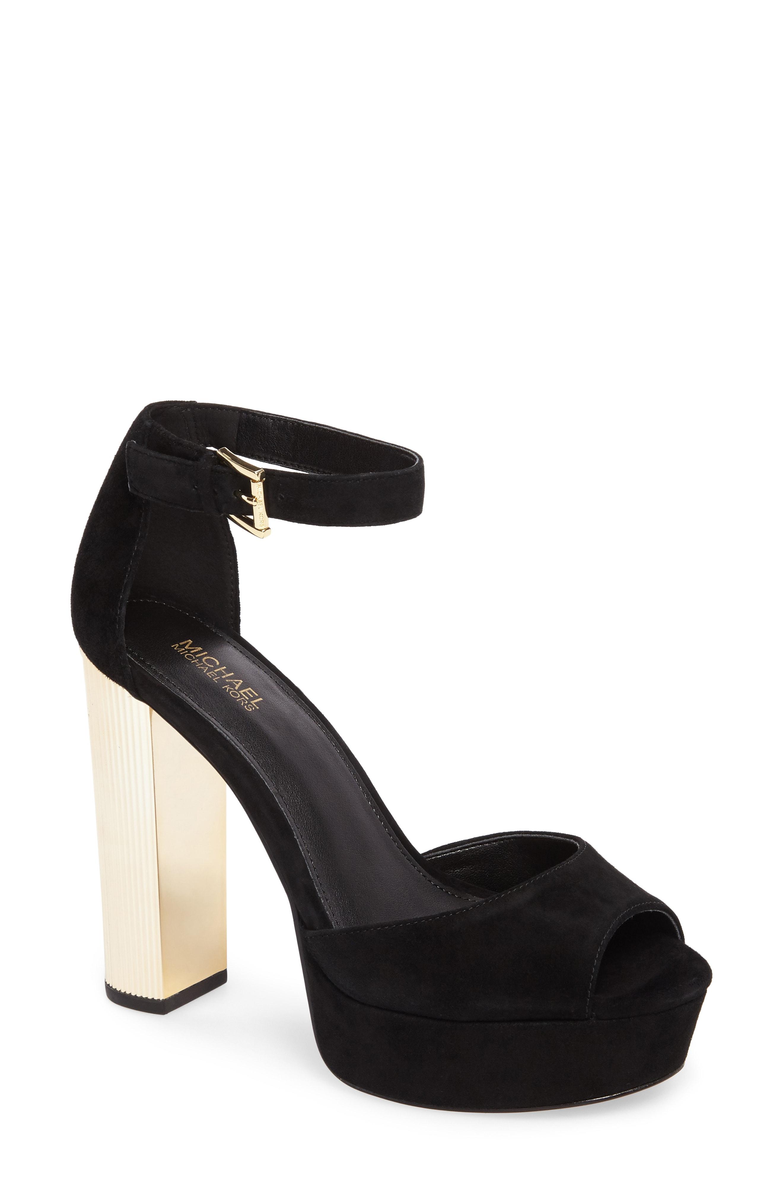 MICHAEL Michael Kors Paloma Metallic Heel Platform Sandal (Women)