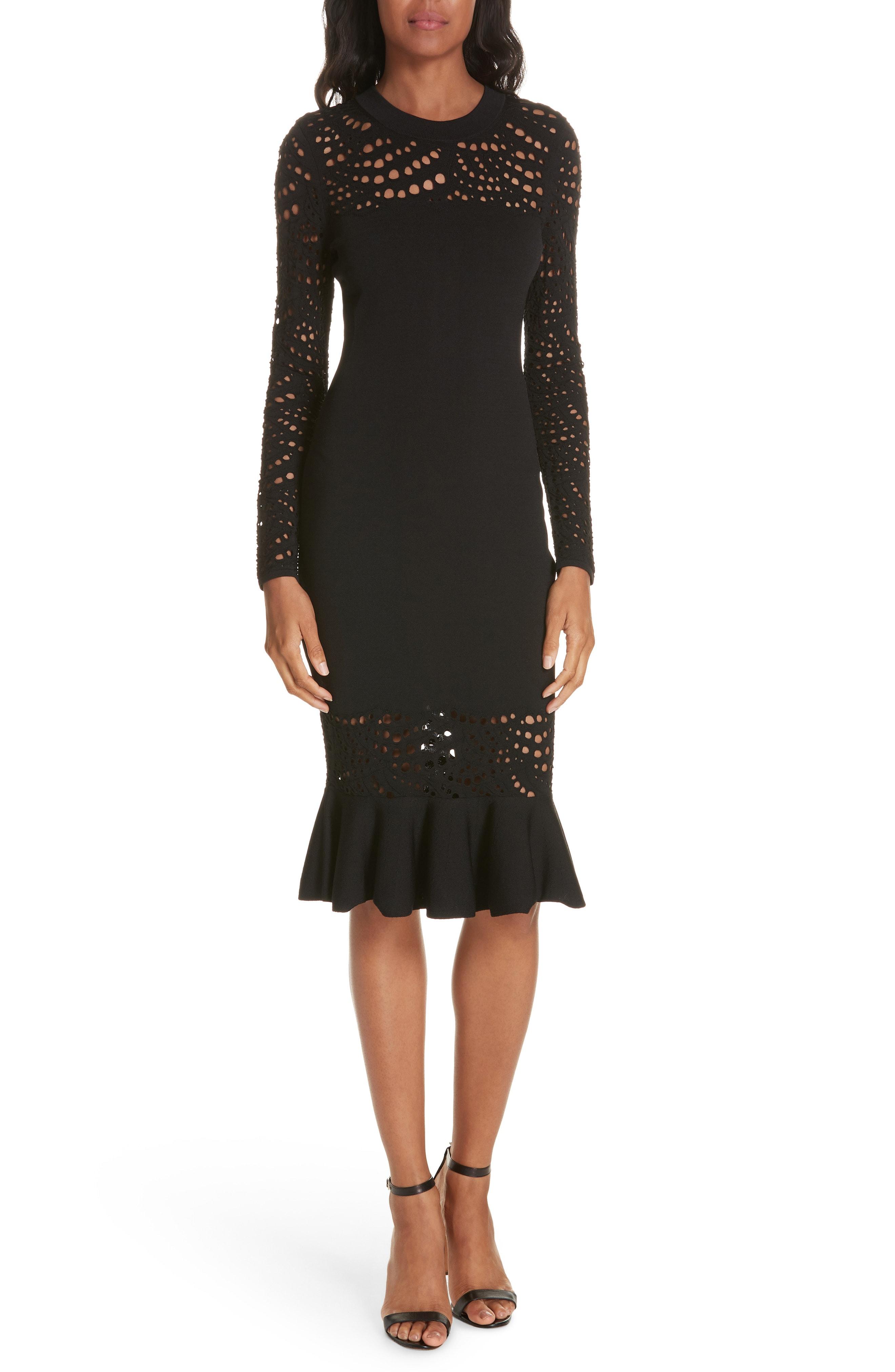 Milly Lace Pointelle Mermaid Midi Dress