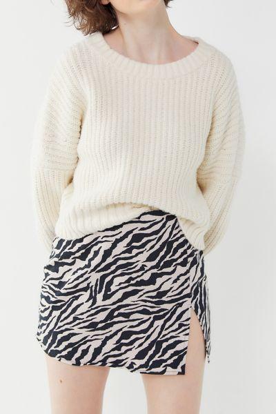 Motel Zebra Print Pelmet Mini Skirt
