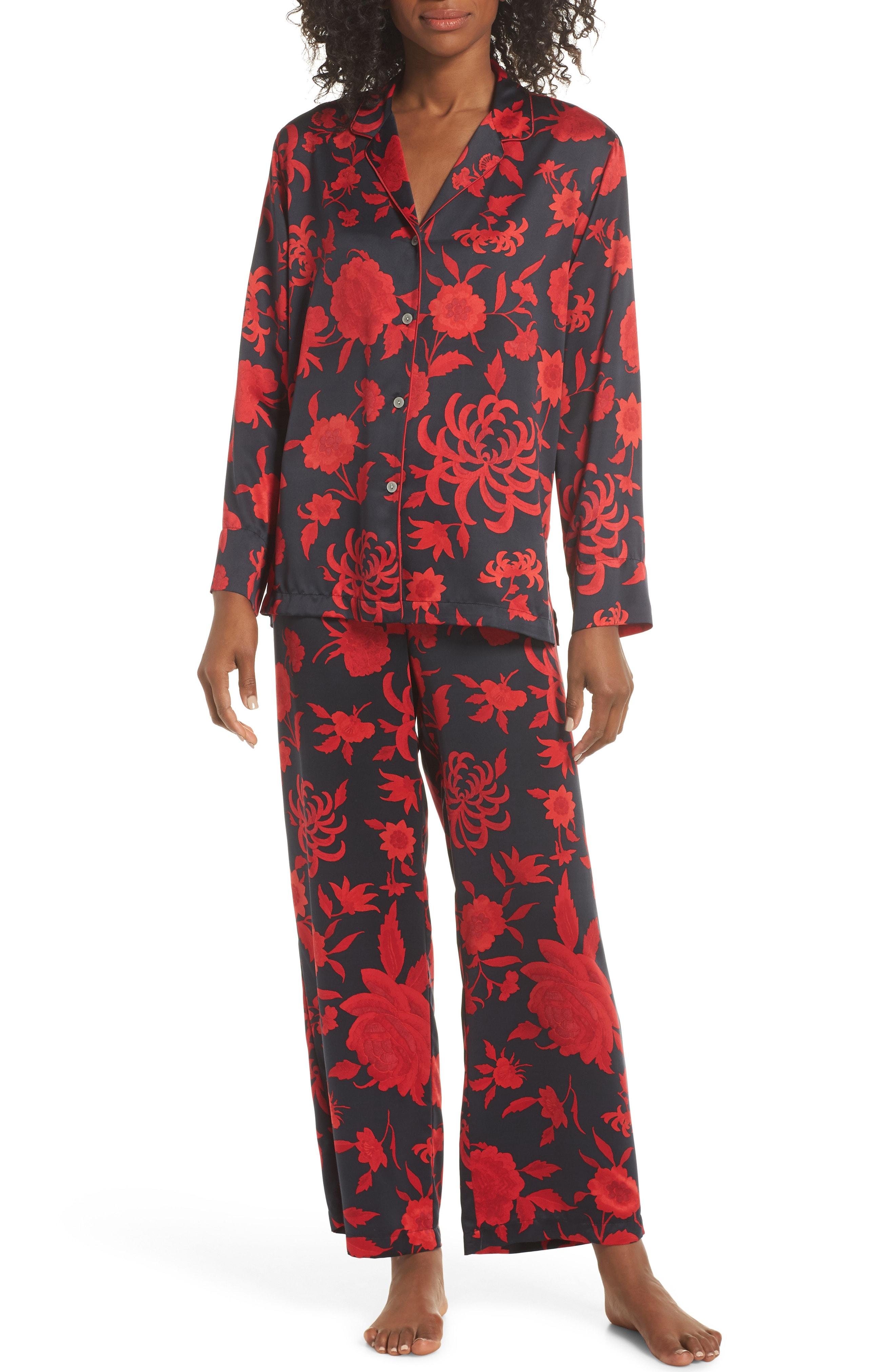 Natori Japonisme Print Charmeuse Pajamas