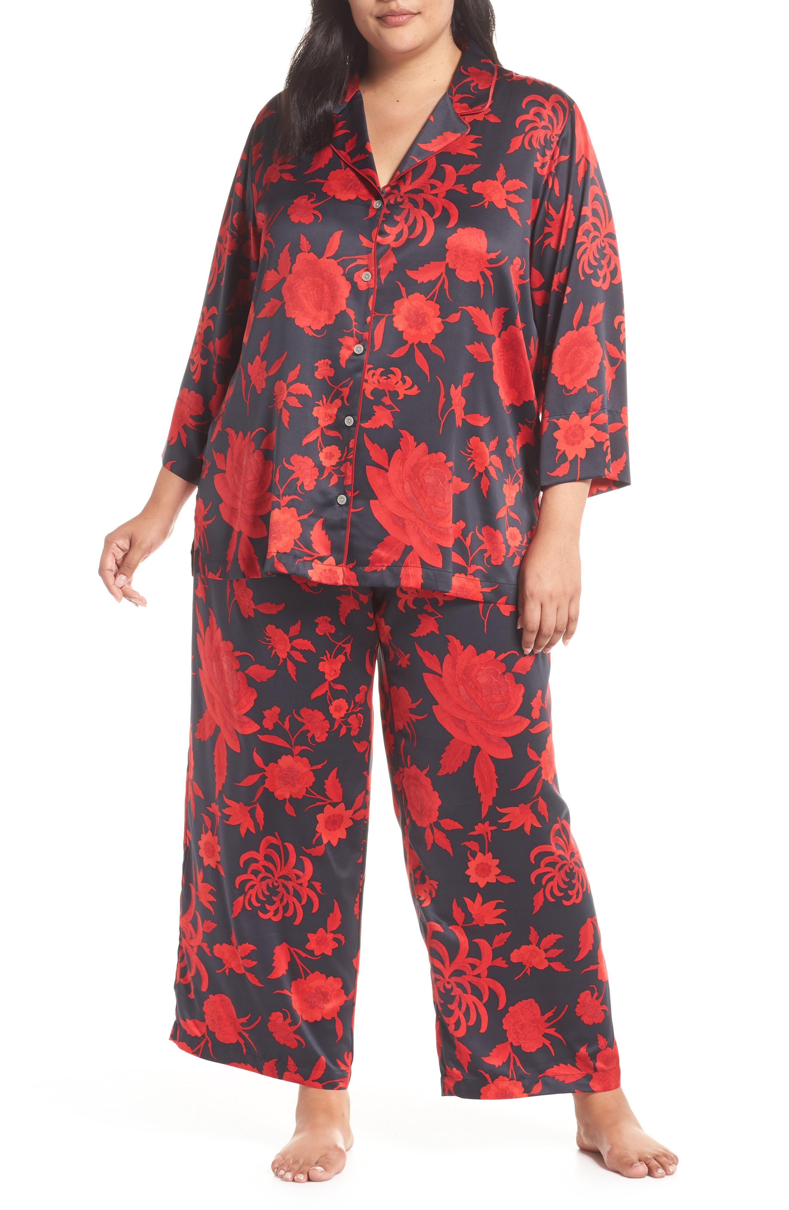 Natori Japonisme Print Charmeuse Pajamas (Plus Size)