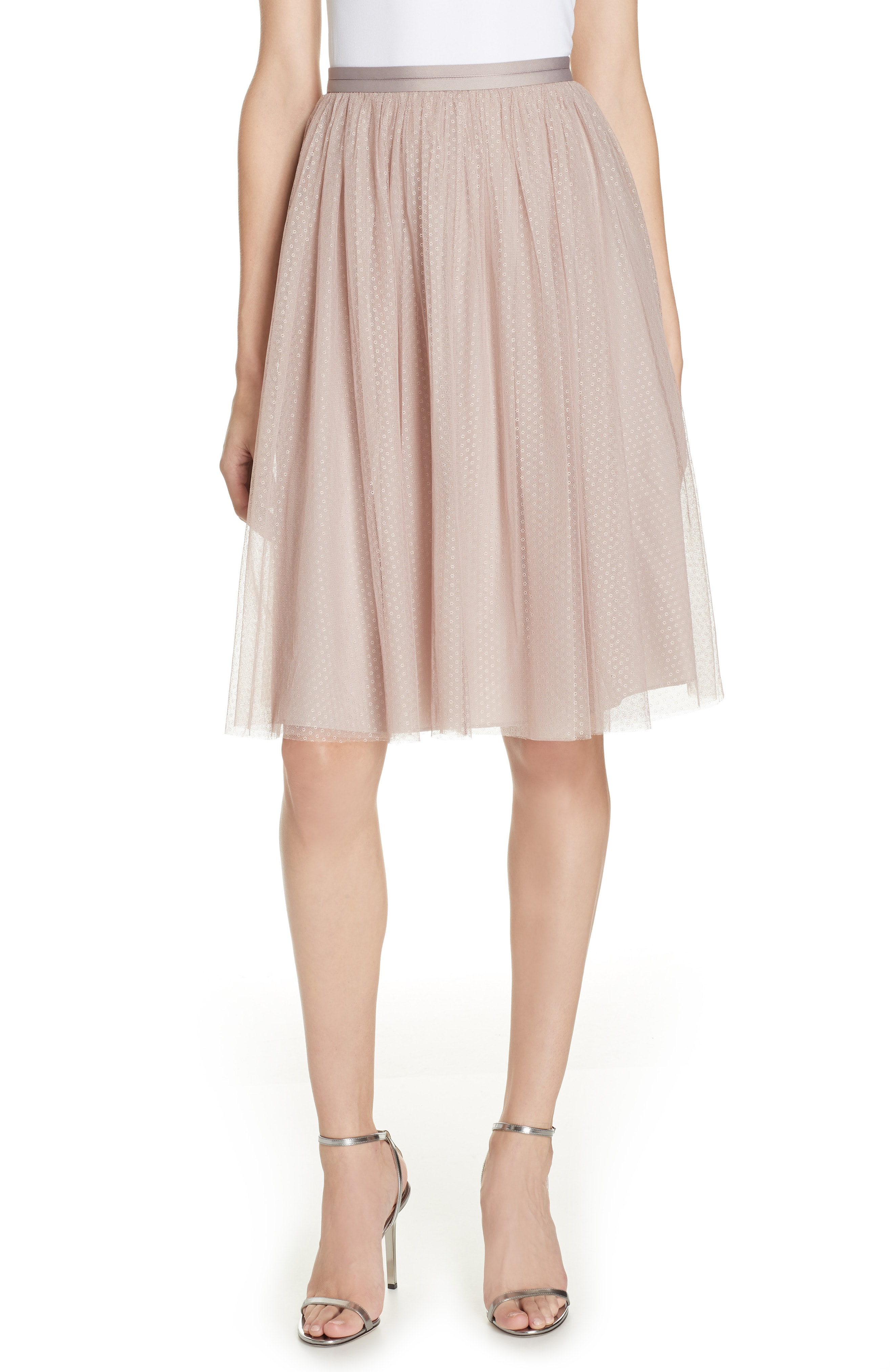 Needle & Thread Dotted Tulle A-Line Skirt