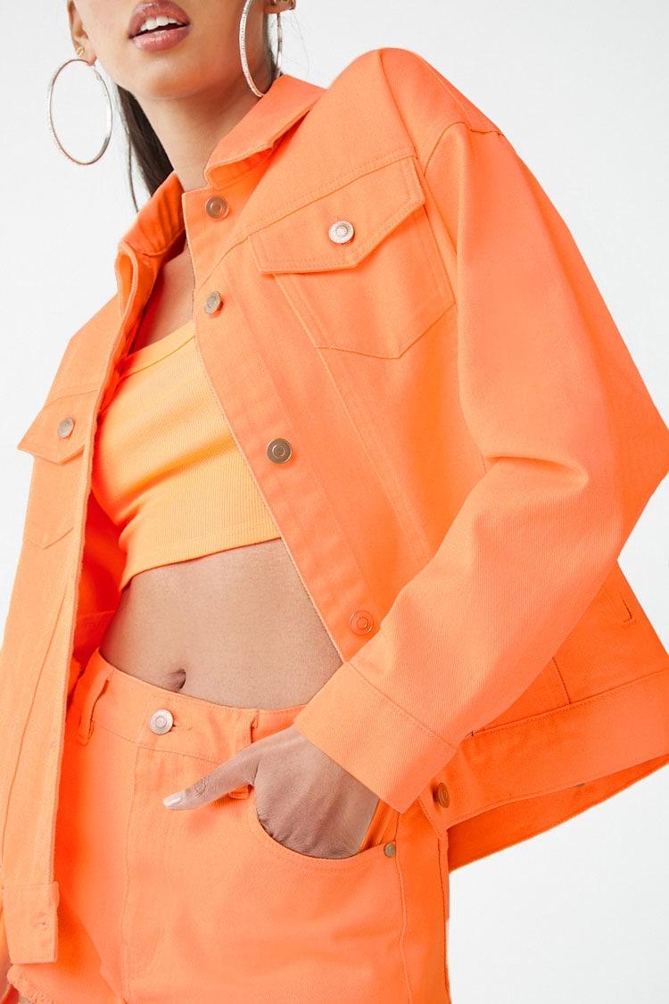F21 Neon Denim Jacket