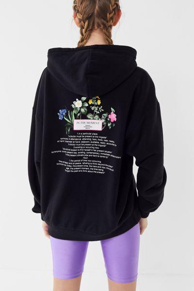 Neon Flowers Hoodie Sweatshirt
