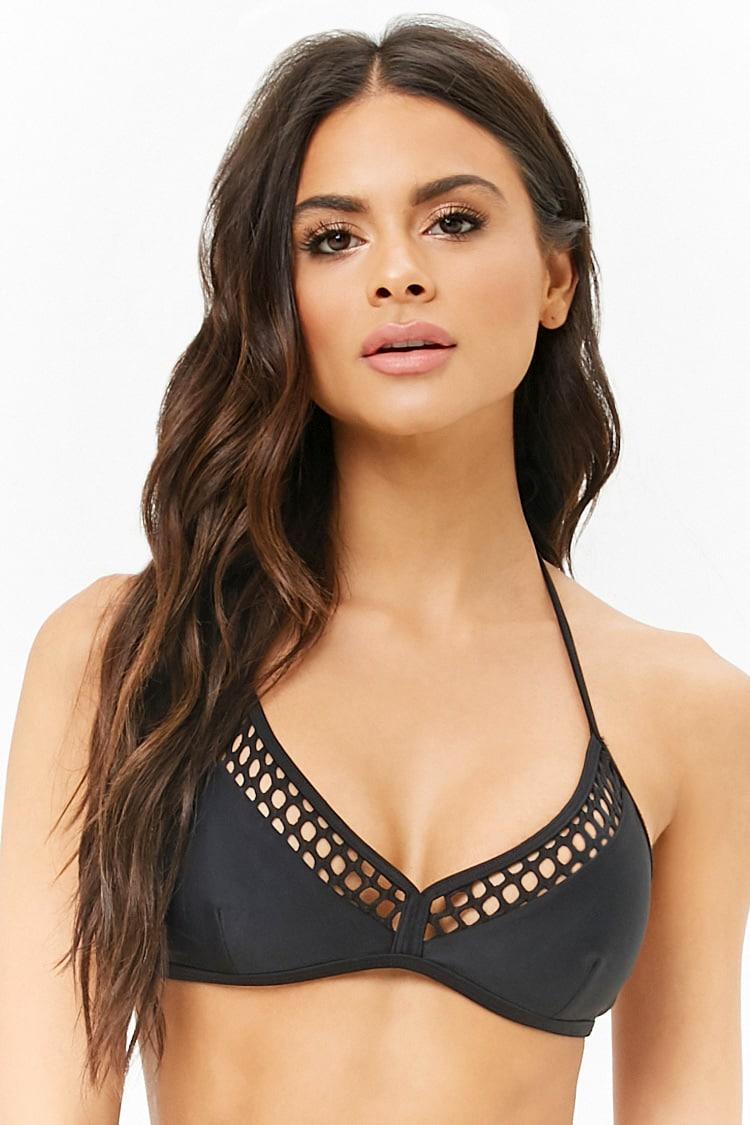 F21 Netted Triangle Bikini Top