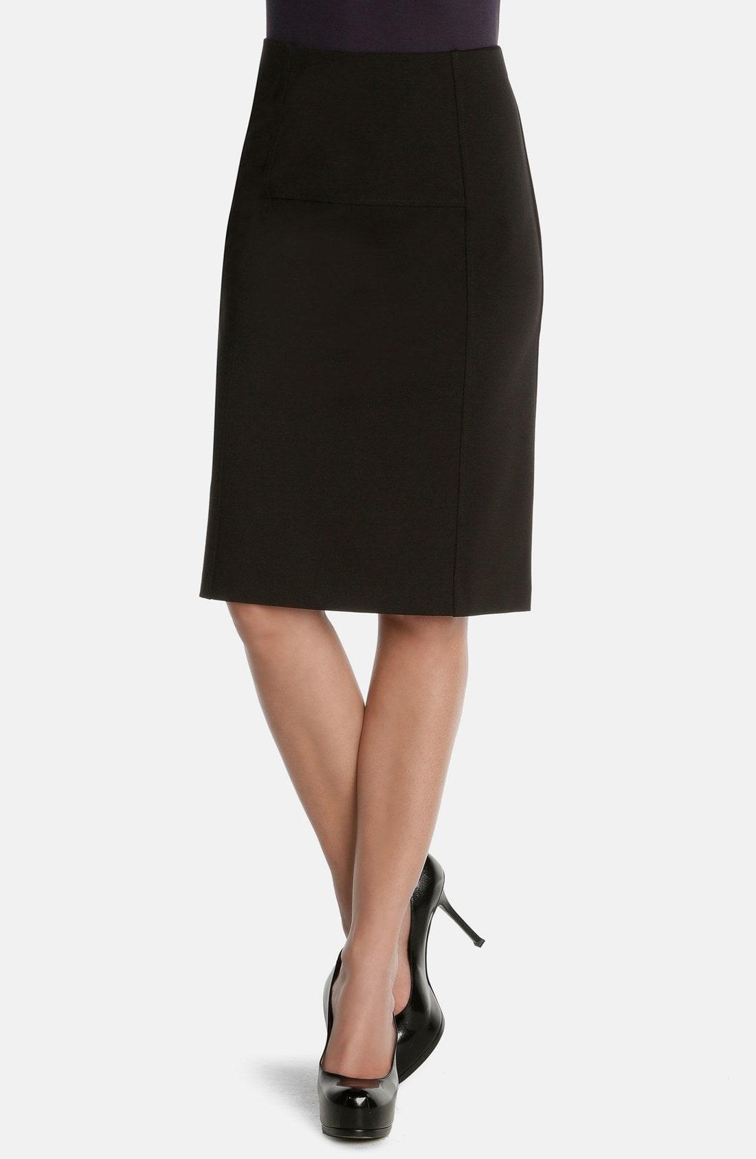 NIC+ZOE 'New Flirt' Ponte Knit Skirt