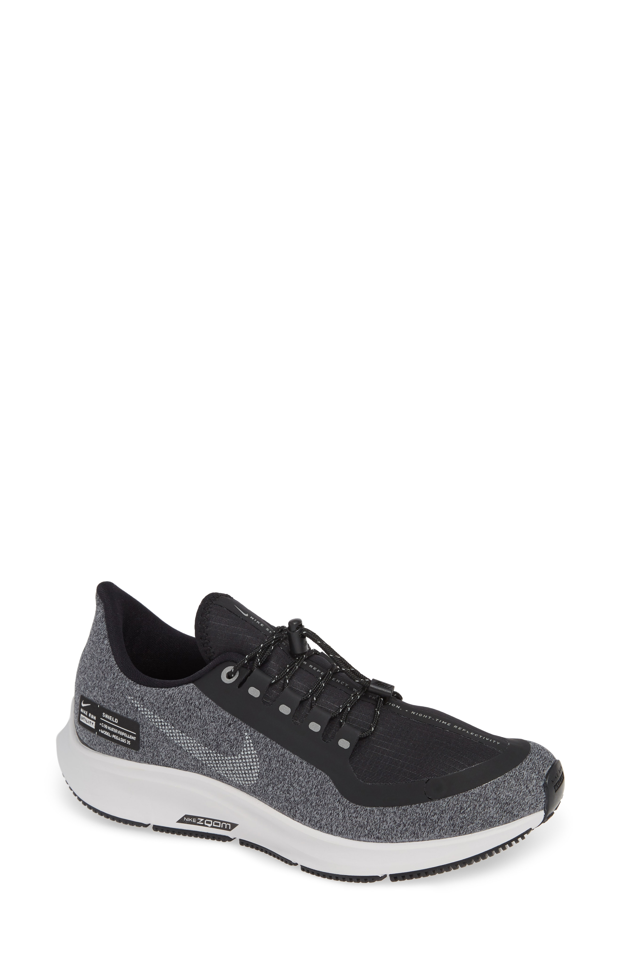 Nike Air Zoom Pegasus 35 Shield GS Water Repellent Running Shoe (Women)