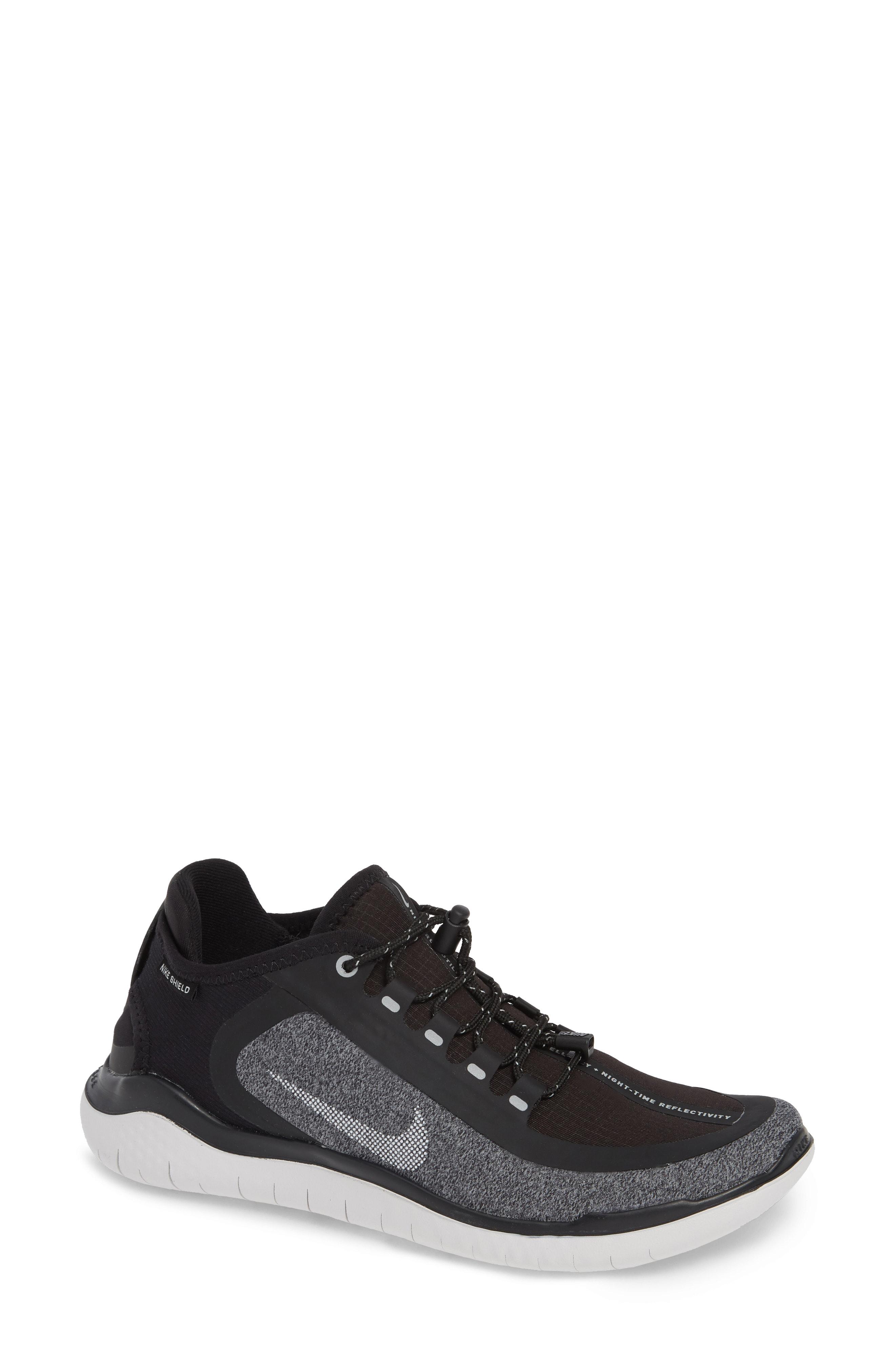 Nike Free RN 2018 Shield Water Repellent Running Shoe (Women)