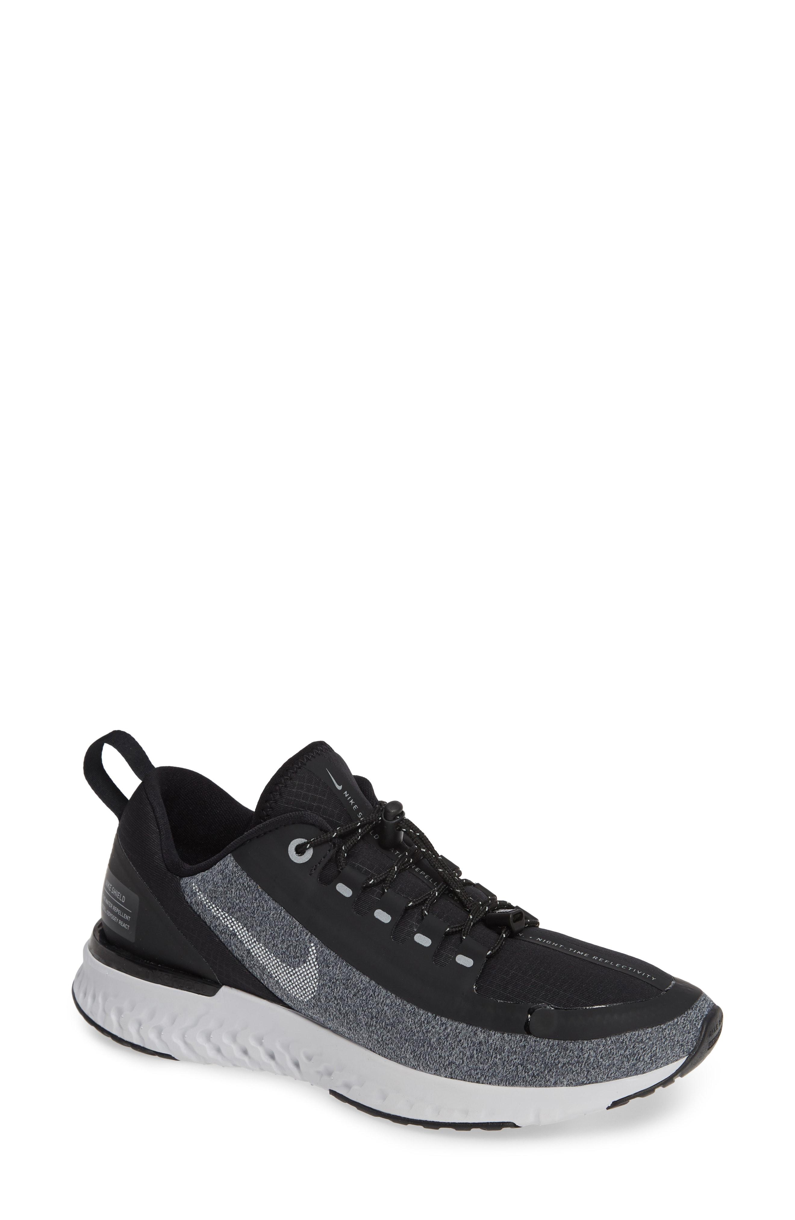 Nike Odyssey React Shield Water Repellent Running Shoe (Women)