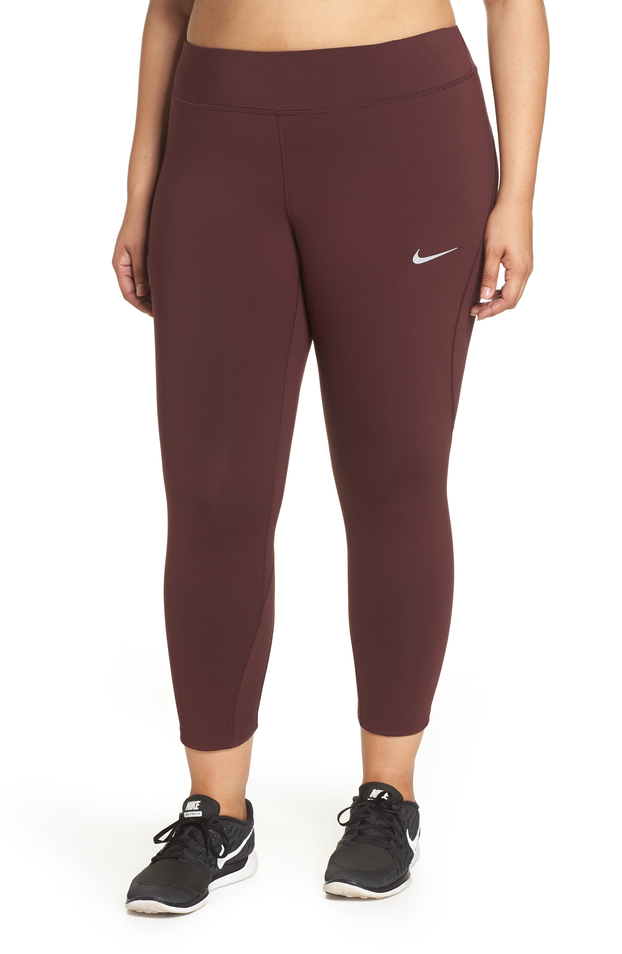 Nike Power Epic Lux Crop Running Tights (Plus Size)