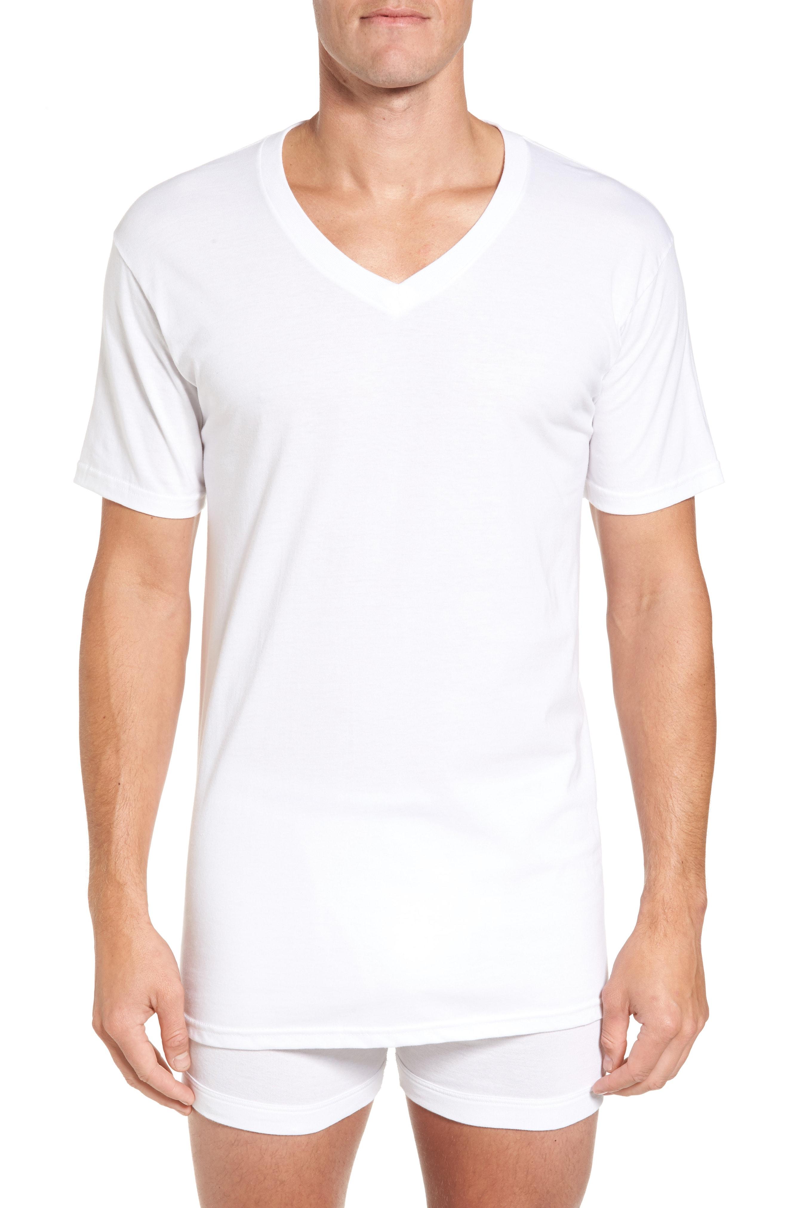 Nordstrom Men's Shop 4-Pack Regular Fit Supima Cotton V-Neck T-Shirts
