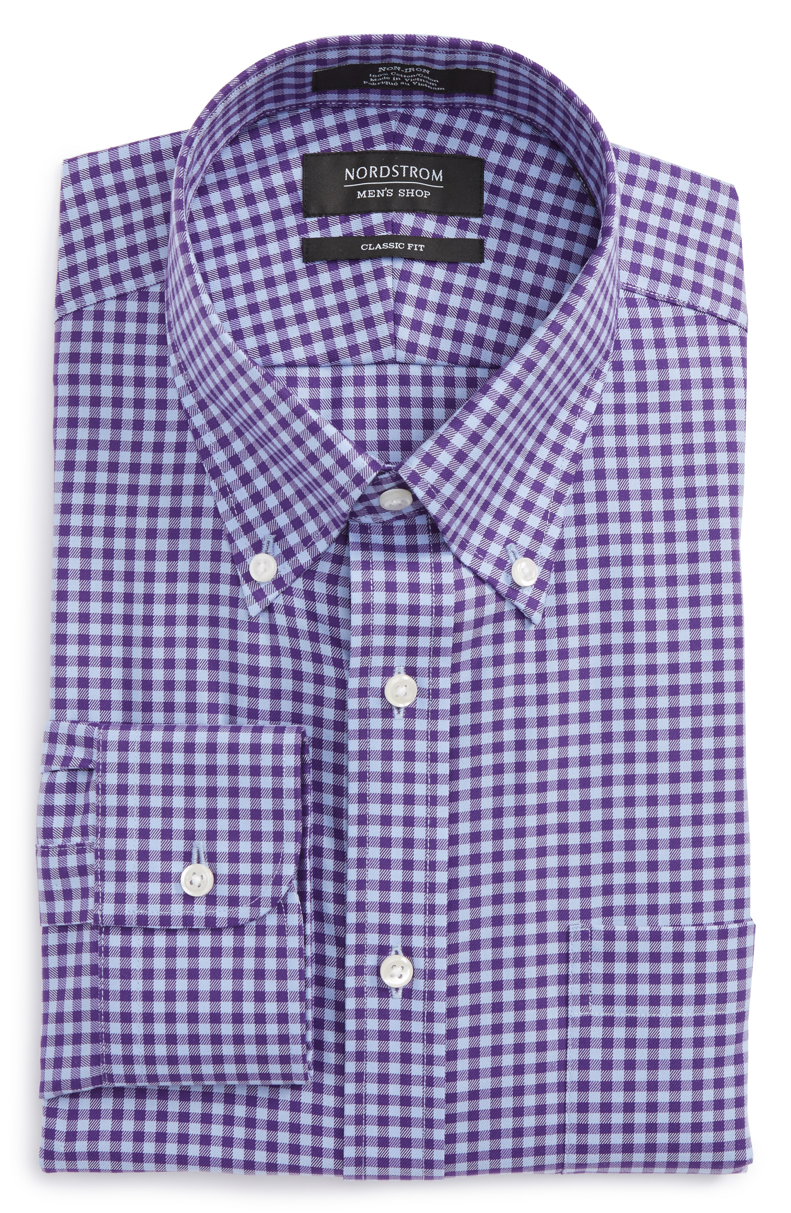 Nordstrom Men's Shop Classic Fit Non-Iron Gingham Dress Shirt (Online Only)