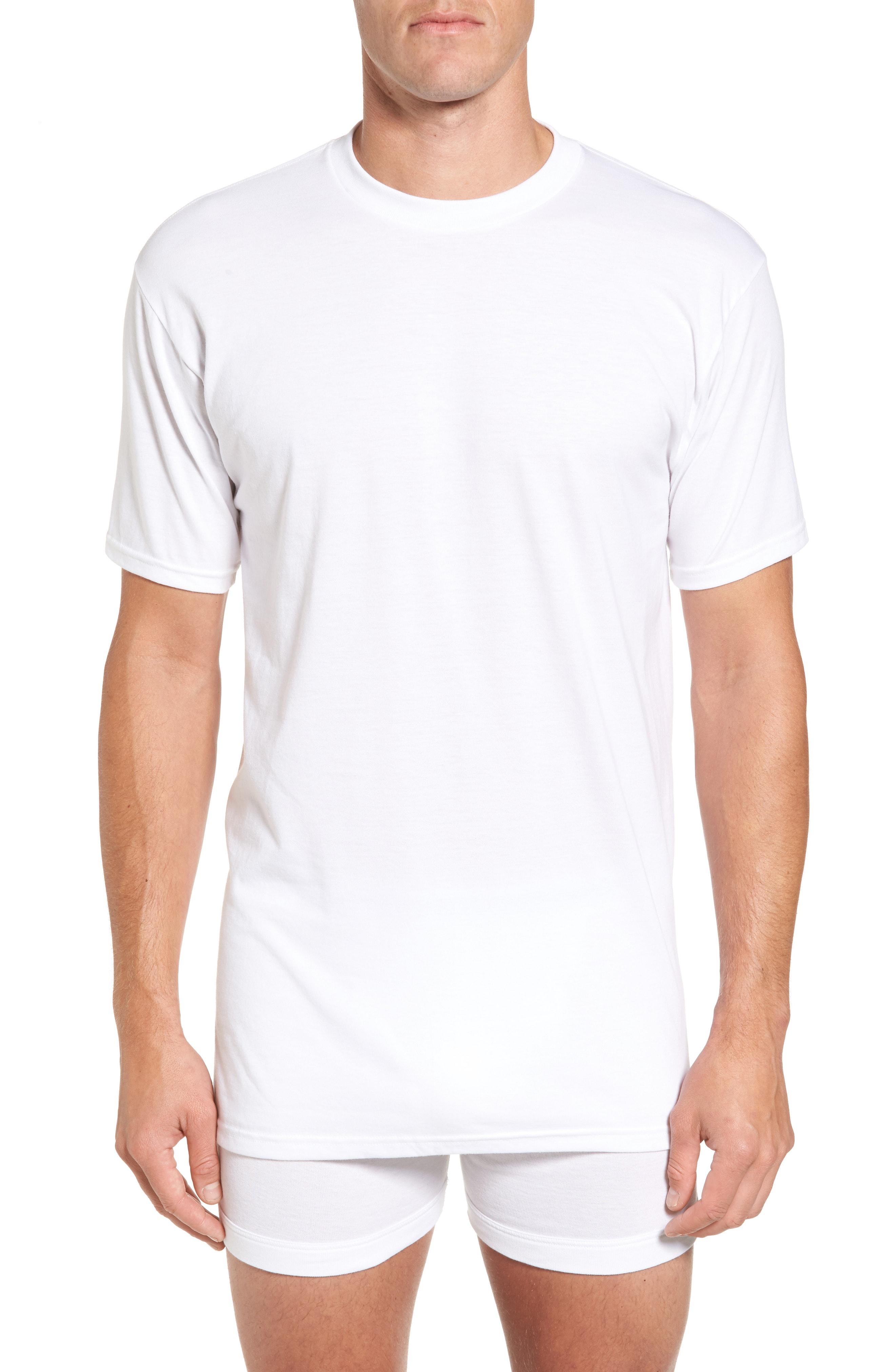 Nordstrom Men's Shop Regular Fit 4-Pack Supima Cotton T-Shirts