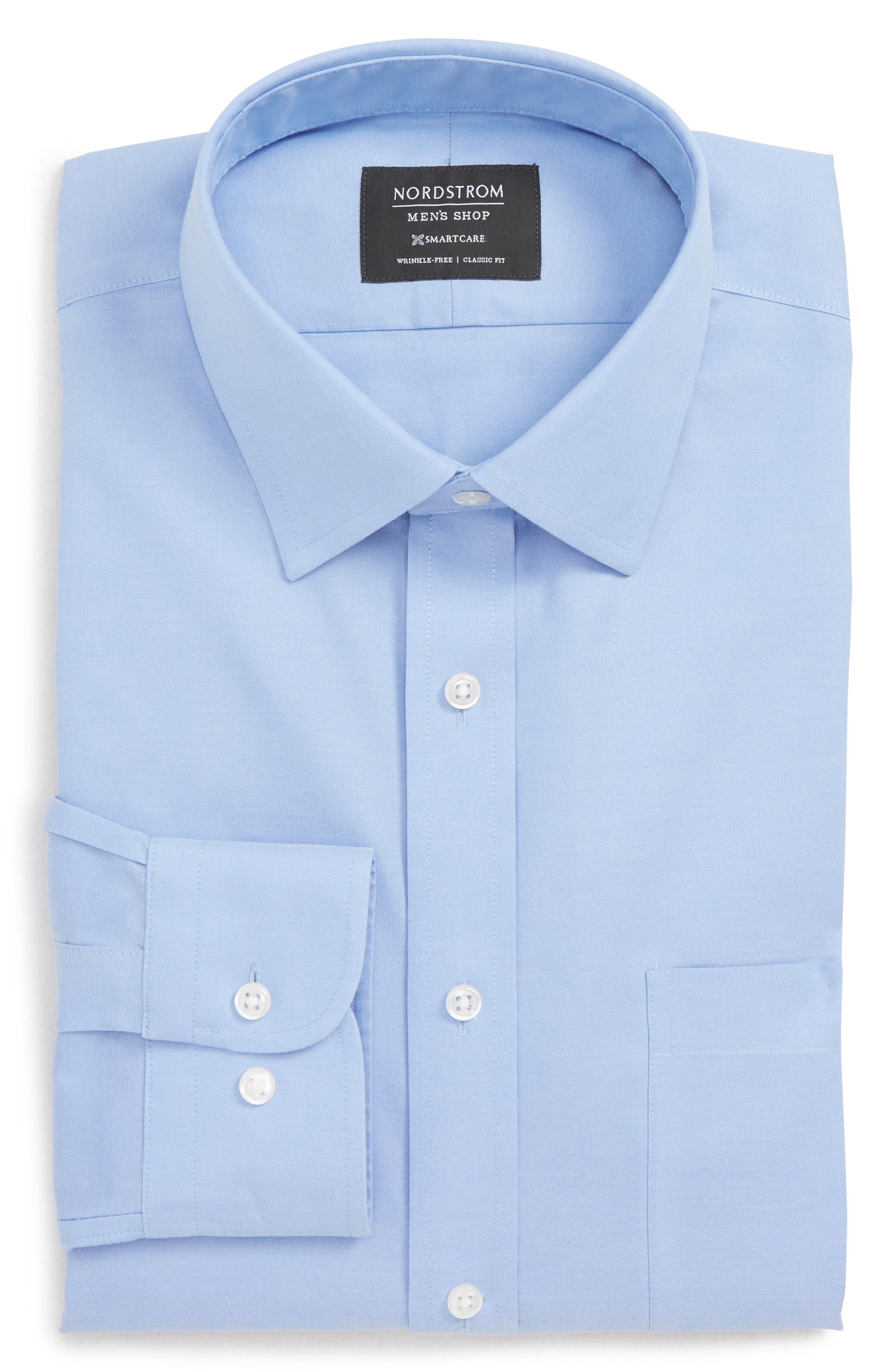 Nordstrom Men's Shop Smartcare Classic Fit Solid Dress Shirt (Online Only)