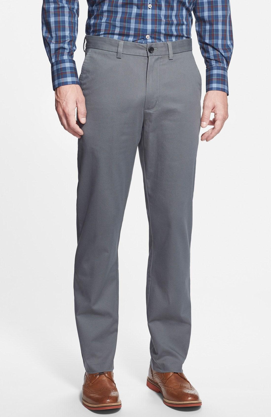 Nordstrom Men's Shop Wrinkle Free Straight Leg Chinos