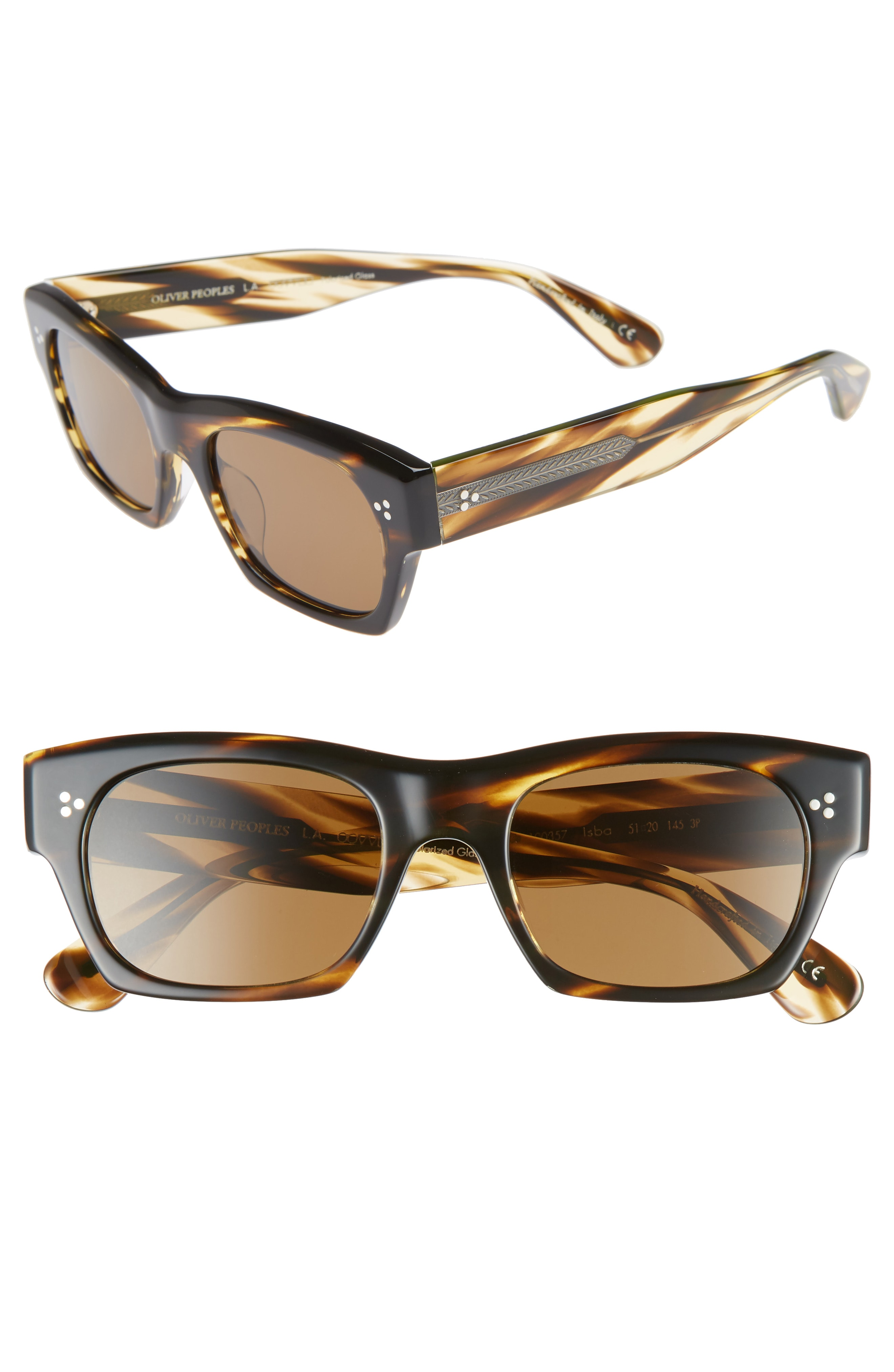 Oliver Peoples Isba 51mm Polarized Sunglasses