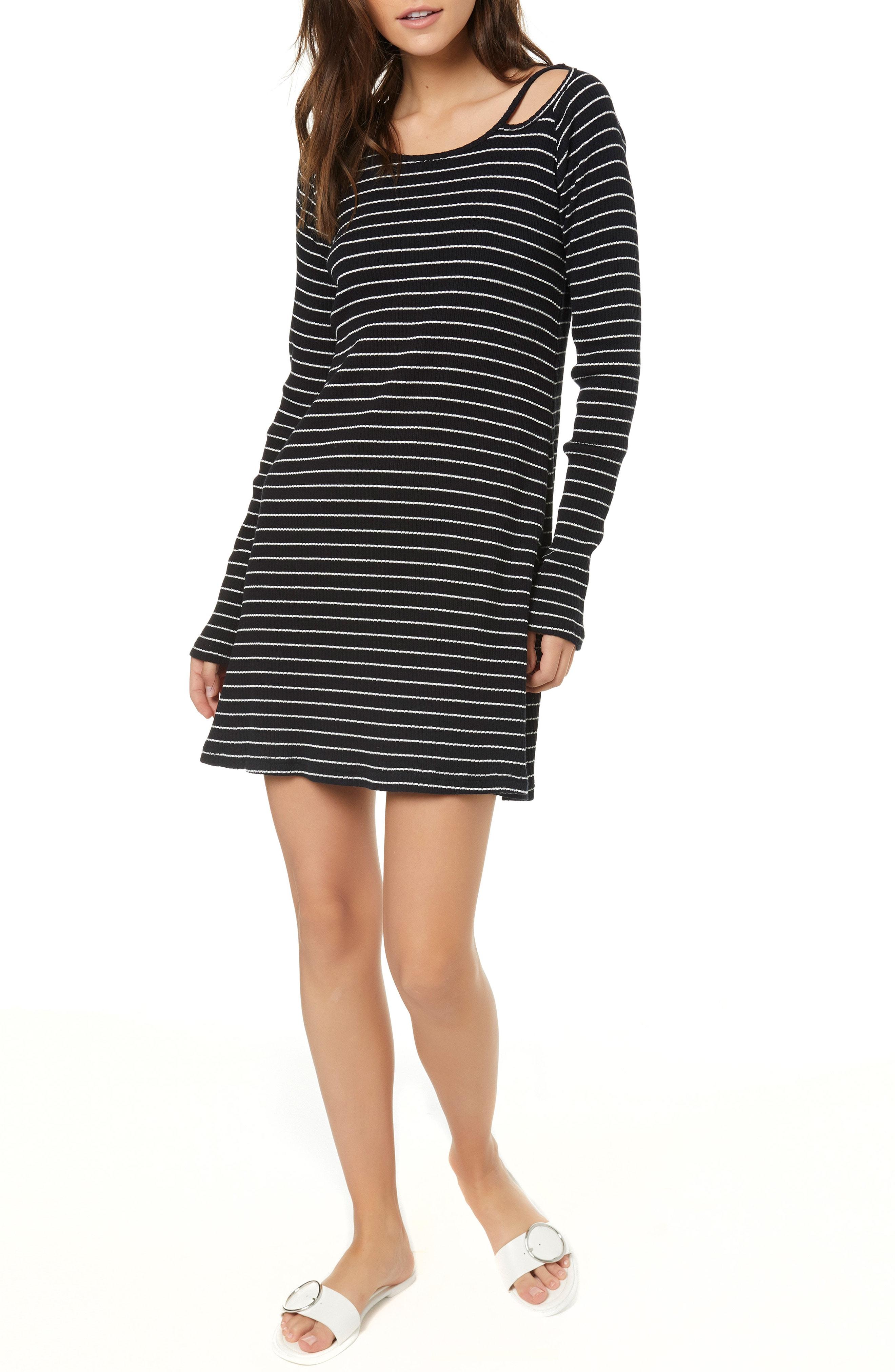 O'Neill Millia Stripe Rib Cutout Dress
