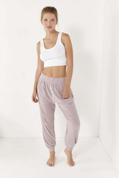 Out From Under Button-Front Jogger Pant
