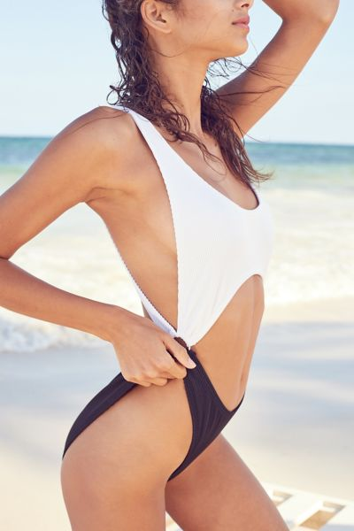 Out From Under Peek-A-Boo Ring One-Piece Swimsuit