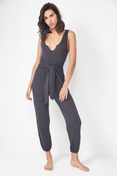 Out From Under Serenity Tie-Front Jumpsuit
