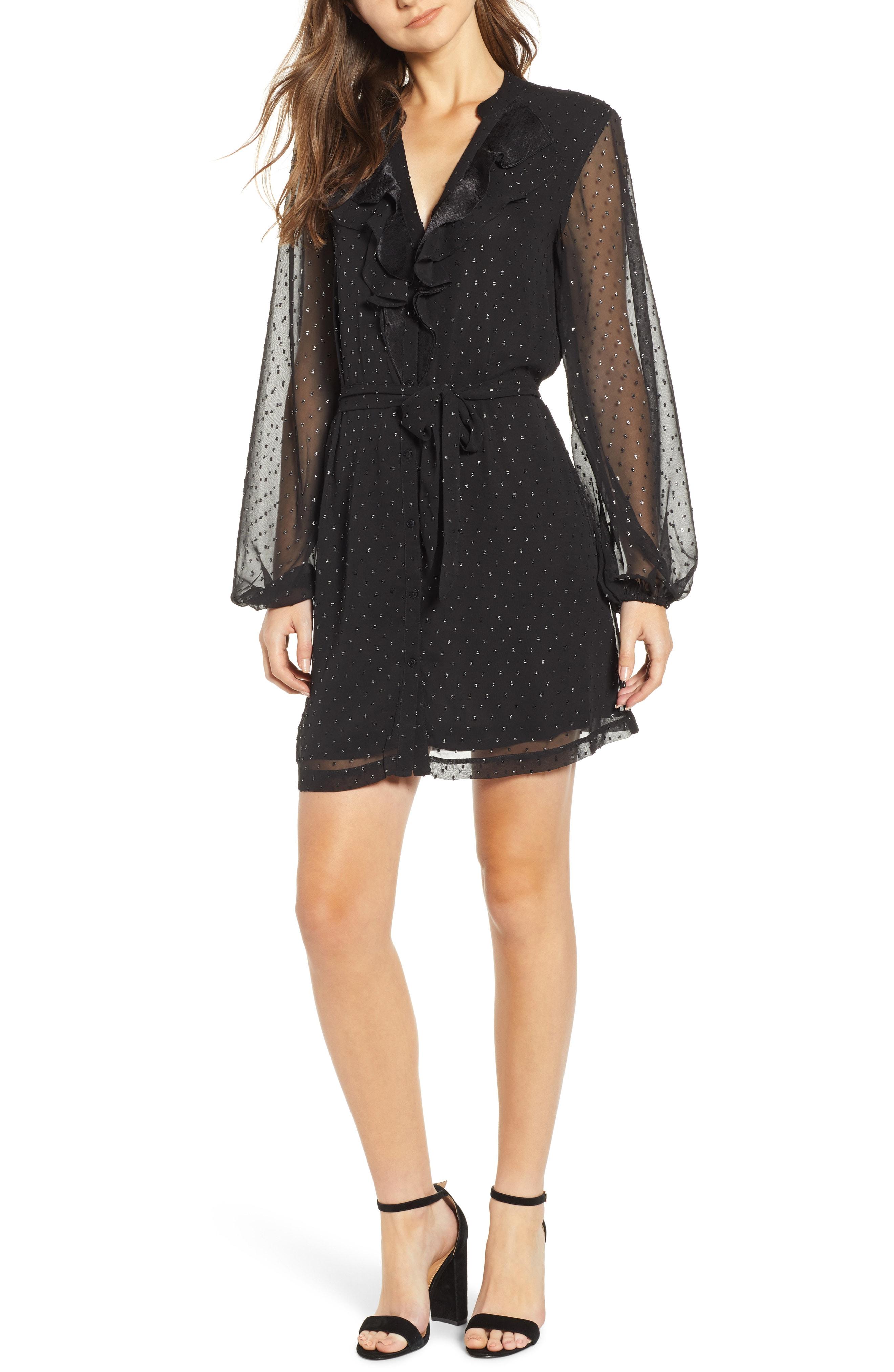 PAIGE Isabelle Shimmer Dot Dress