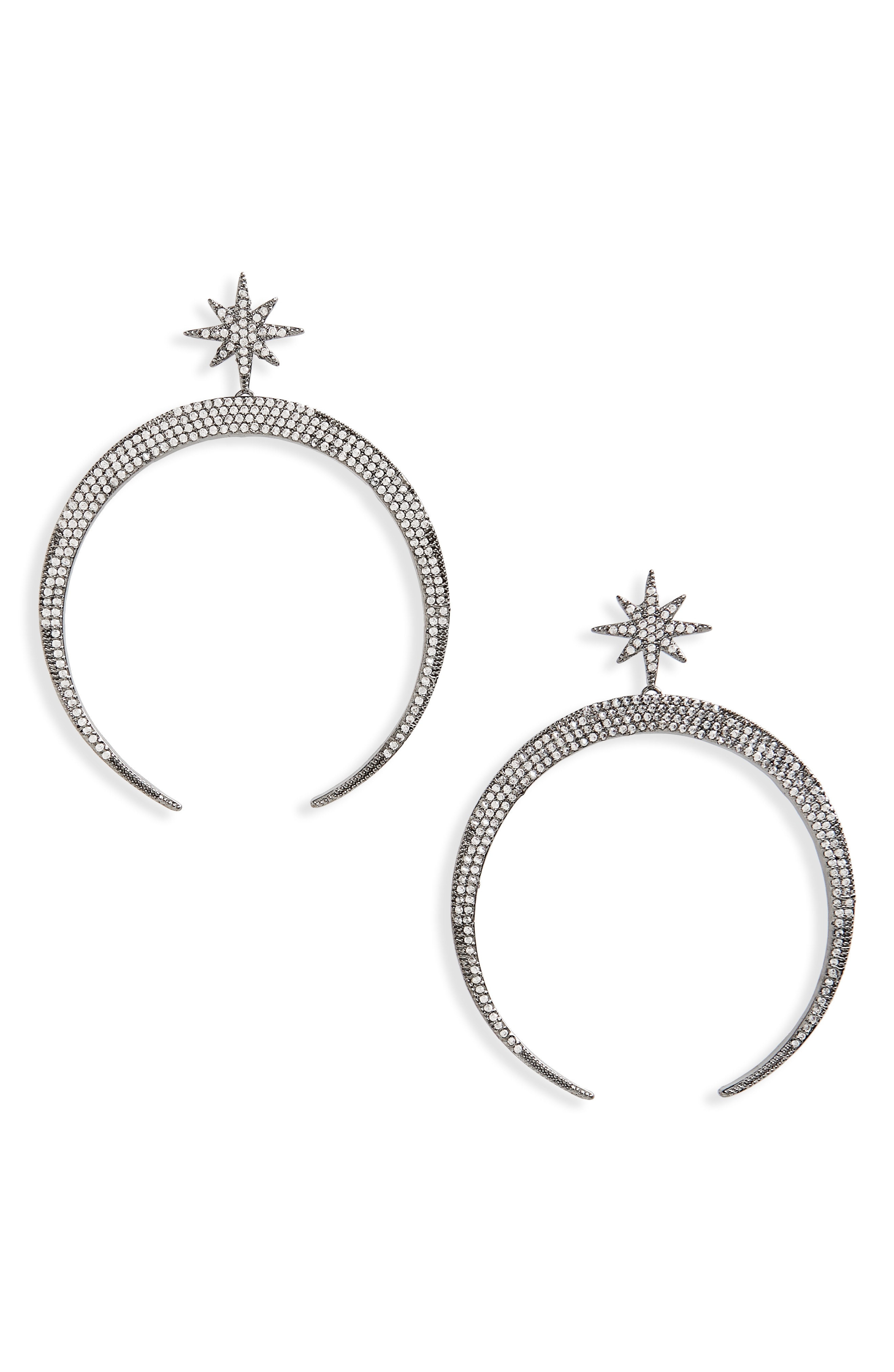 Serefina Pav Moon Earrings
