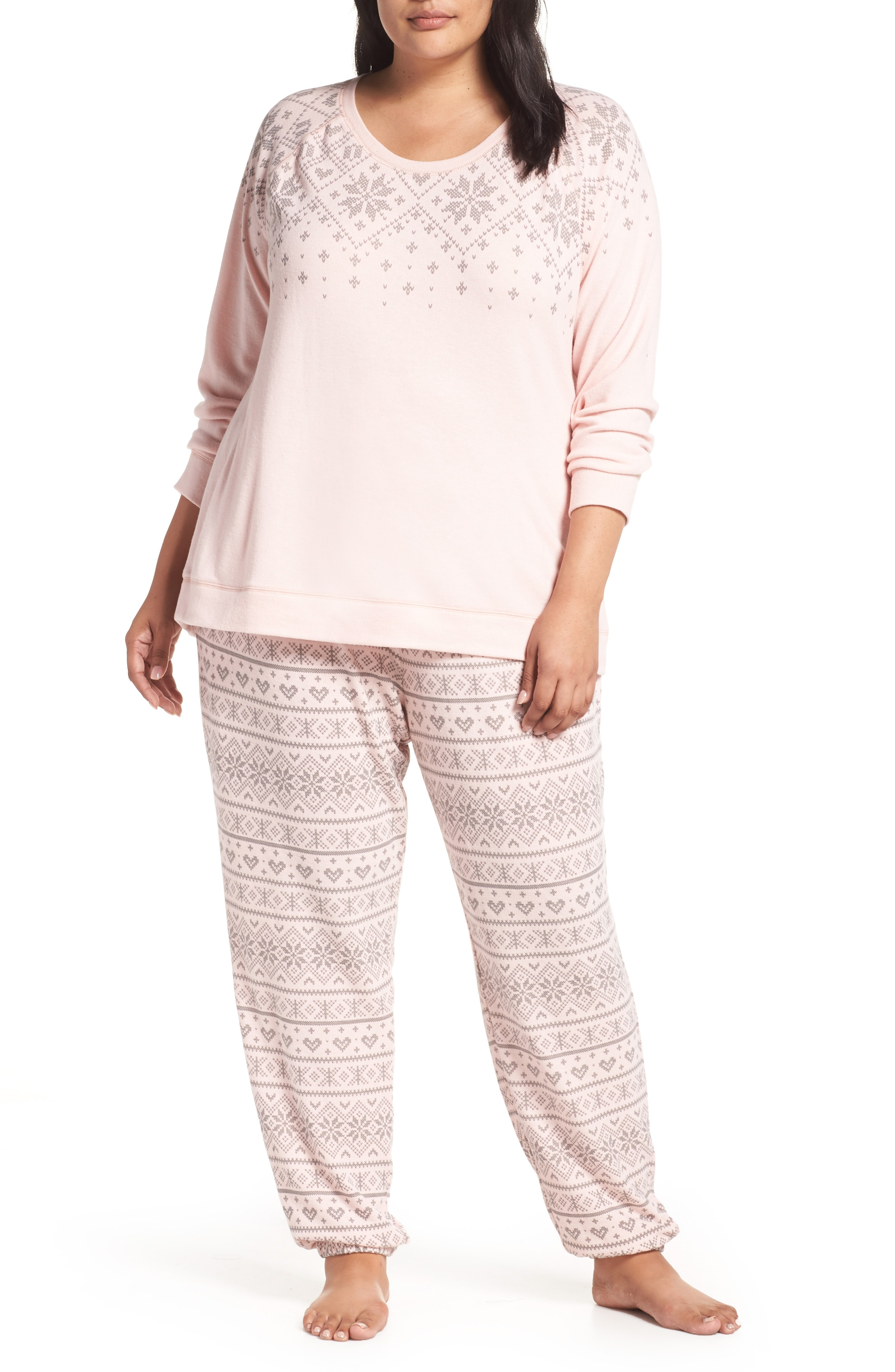 PJ Salvage Just Peachy Jogger Pajamas (Plus Size)