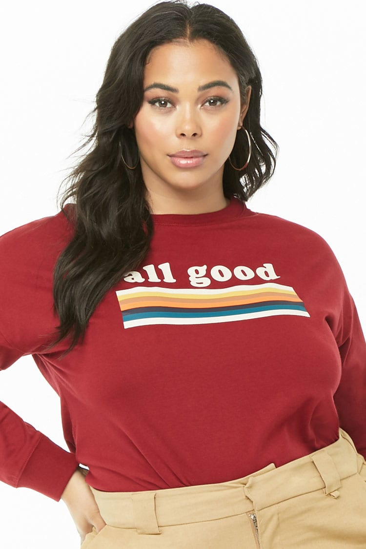 PLUS Plus Size All Good Graphic Top