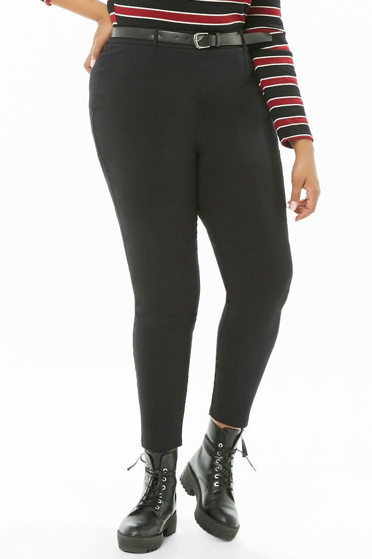 PLUS Plus Size Belted Trousers