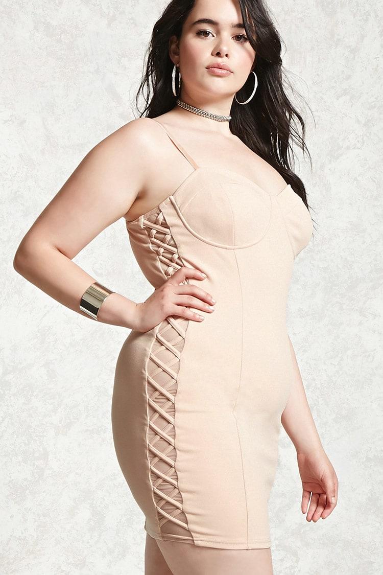 PLUS Plus Size Bodycon Cami Dress