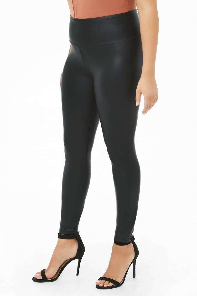 PLUS Plus Size Coated Nylon Leggings