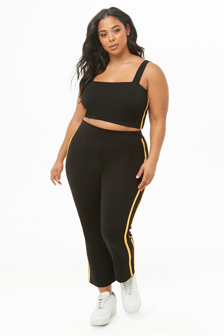 PLUS Plus Size Crop Top & Pants Set