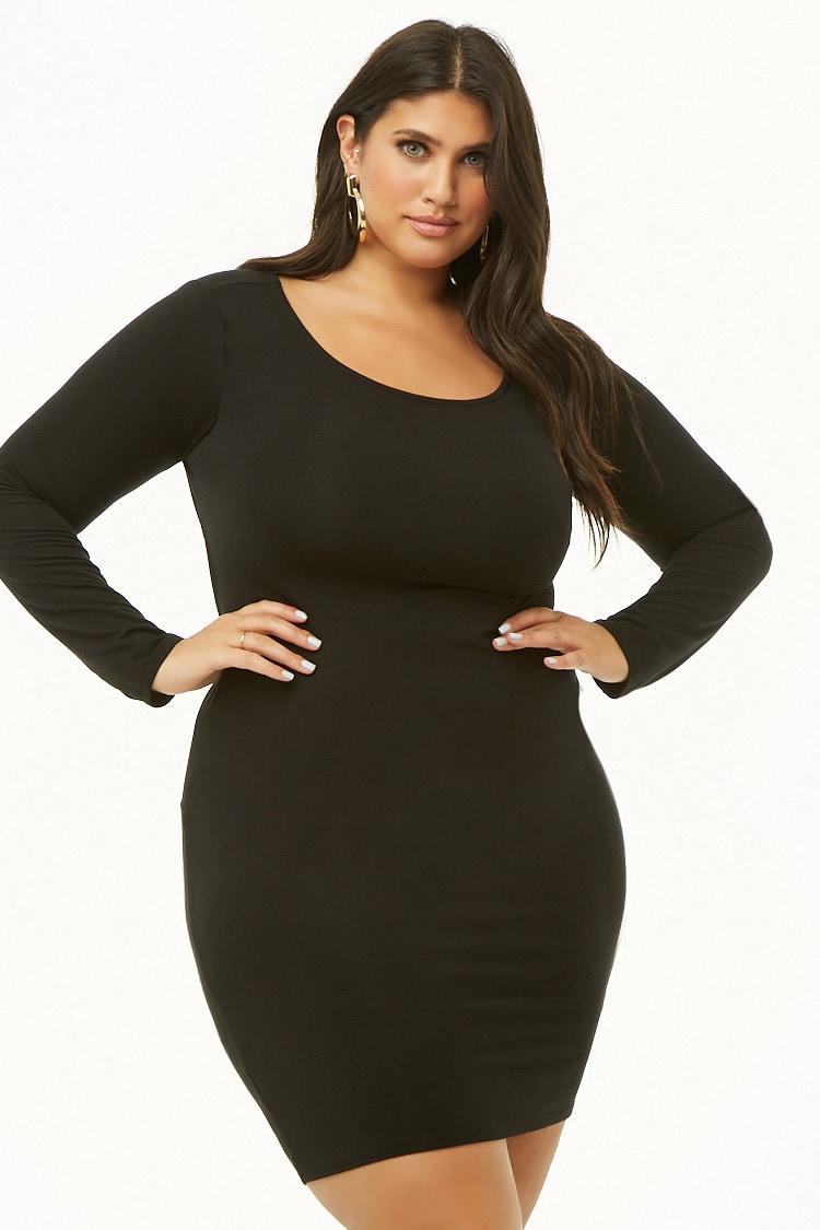 PLUS Plus Size Cutout Knee-Length Dress