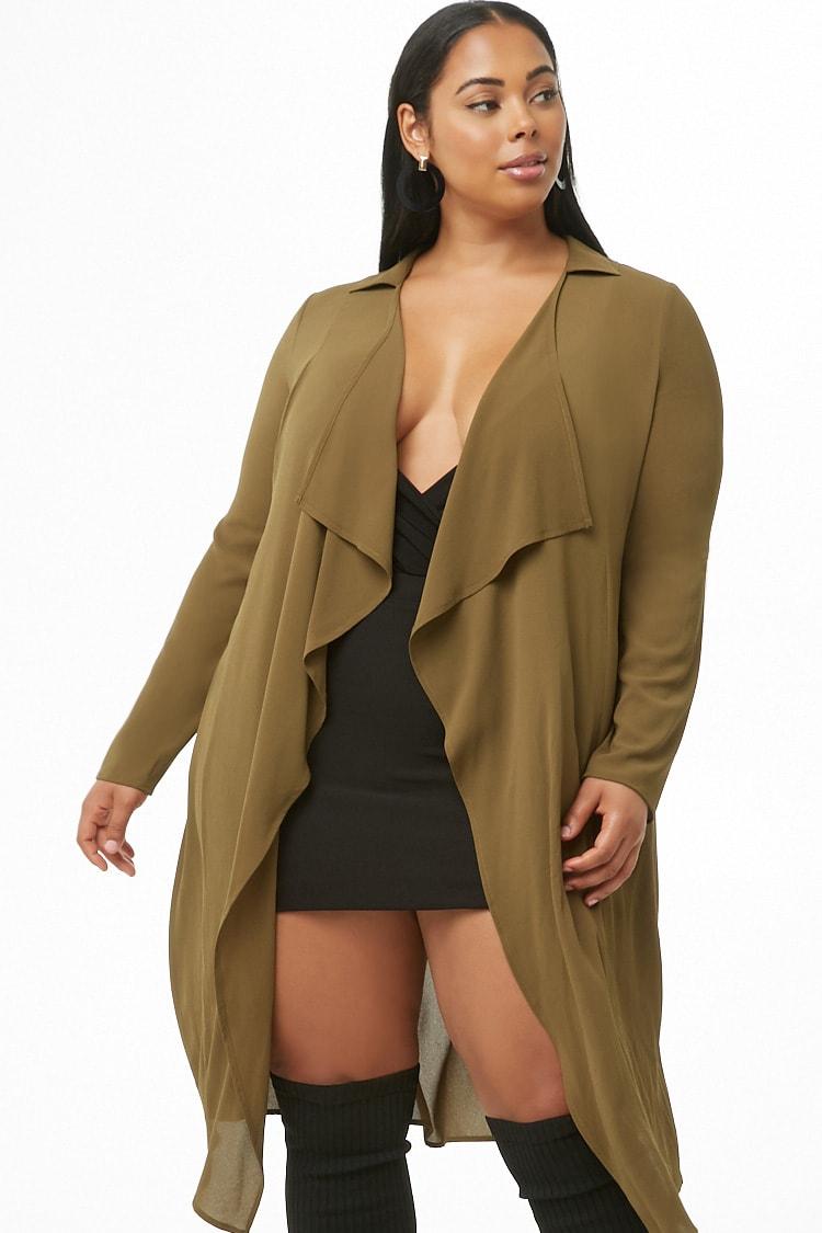 PLUS Plus Size Drape-Front Jacket